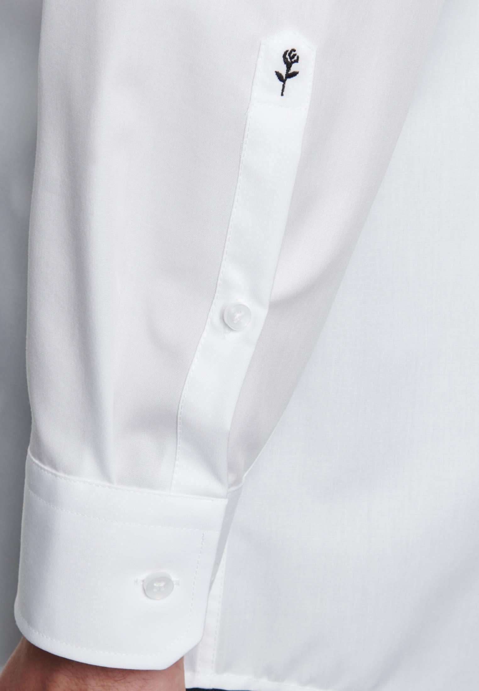 Bügelfreies Popeline Business Hemd in Regular mit Haifischkragen in Weiß |  Seidensticker Onlineshop