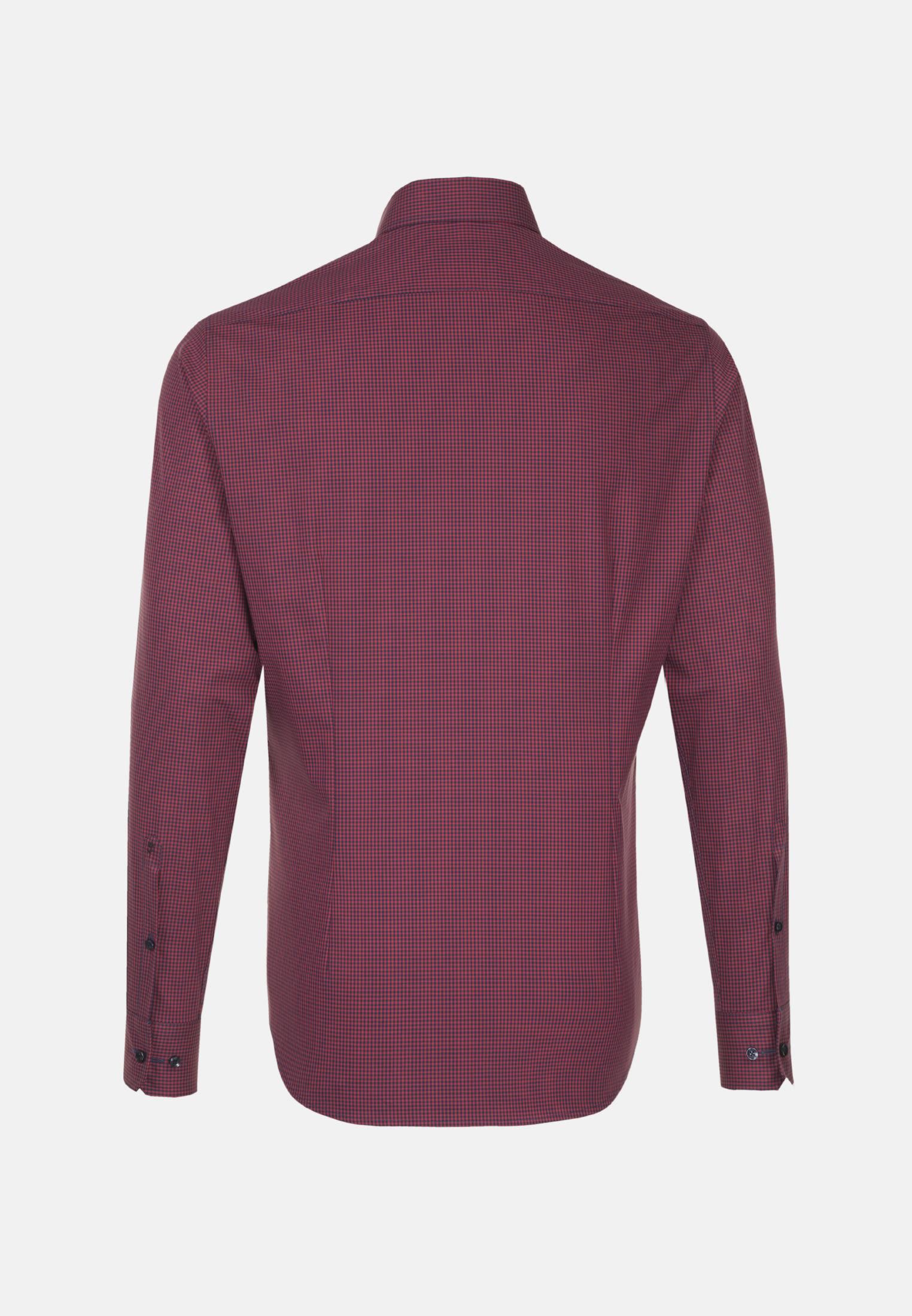 Non-iron Poplin Business Shirt in Slim with Button-Down-Collar in Red    Seidensticker Onlineshop