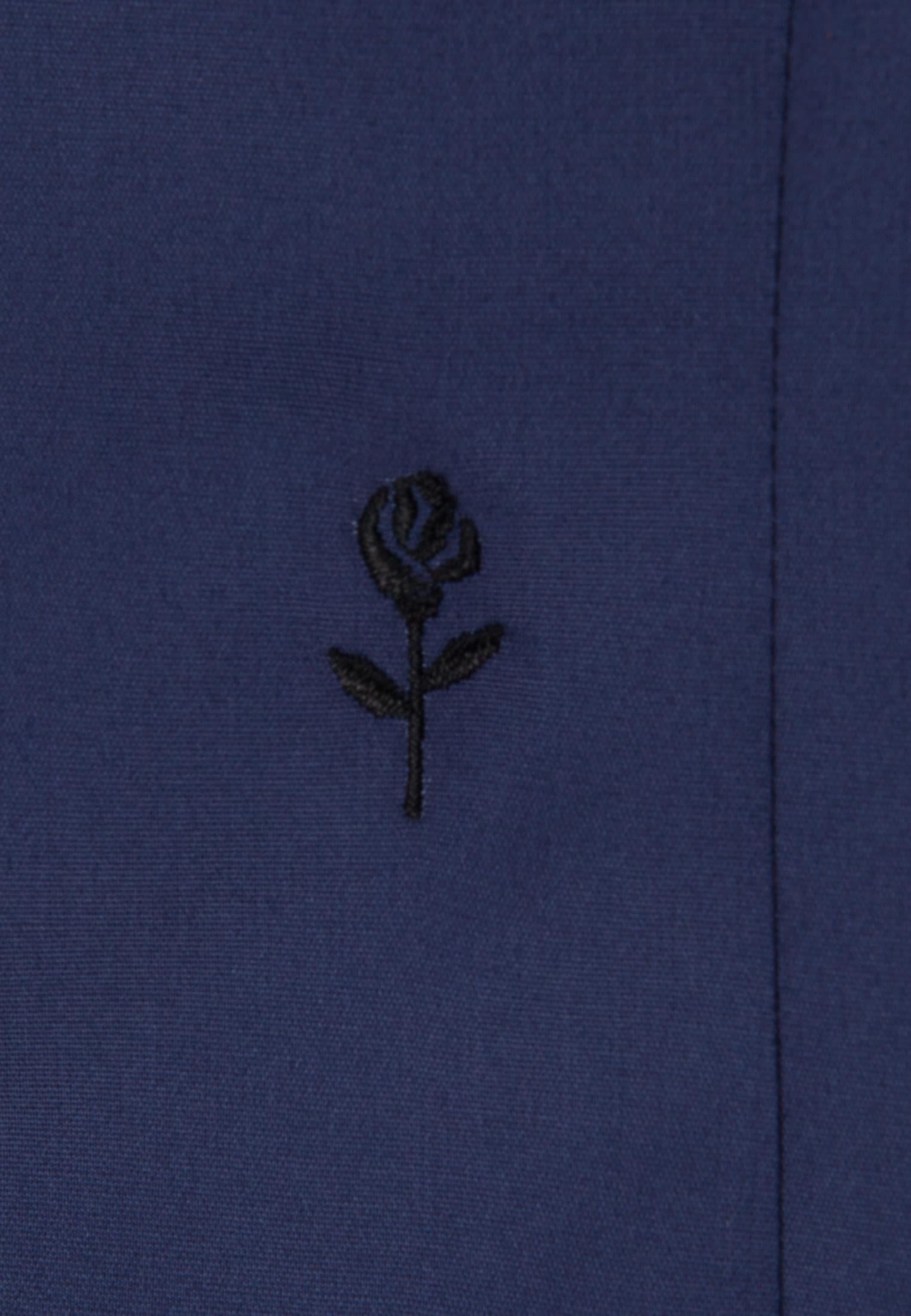 Bügelfreie Popeline Hemdbluse aus 100% Baumwolle in Dunkelblau |  Seidensticker Onlineshop