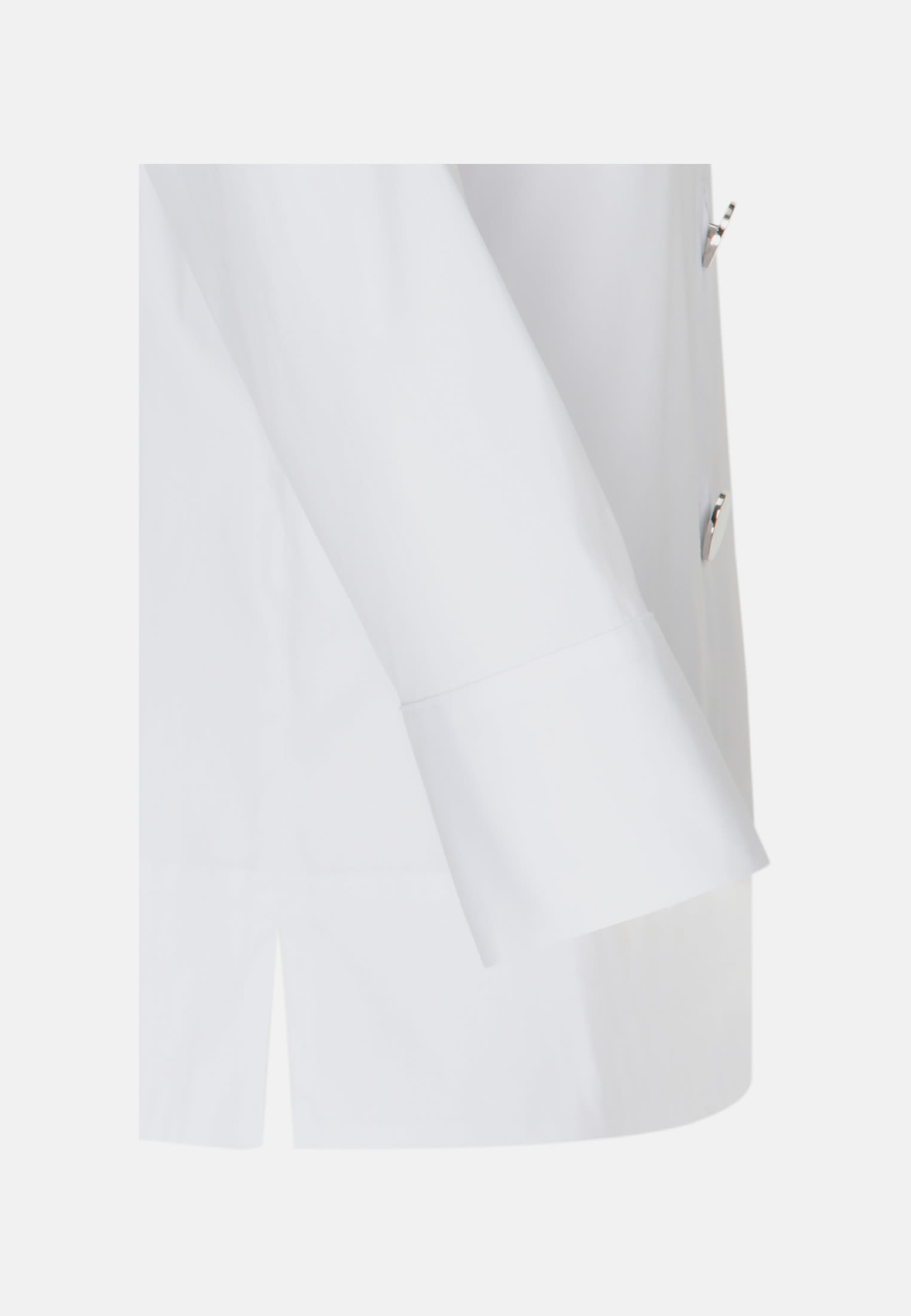 3/4 sleeve Poplin Stand-Up Blouse made of cotton blend in White |  Seidensticker Onlineshop