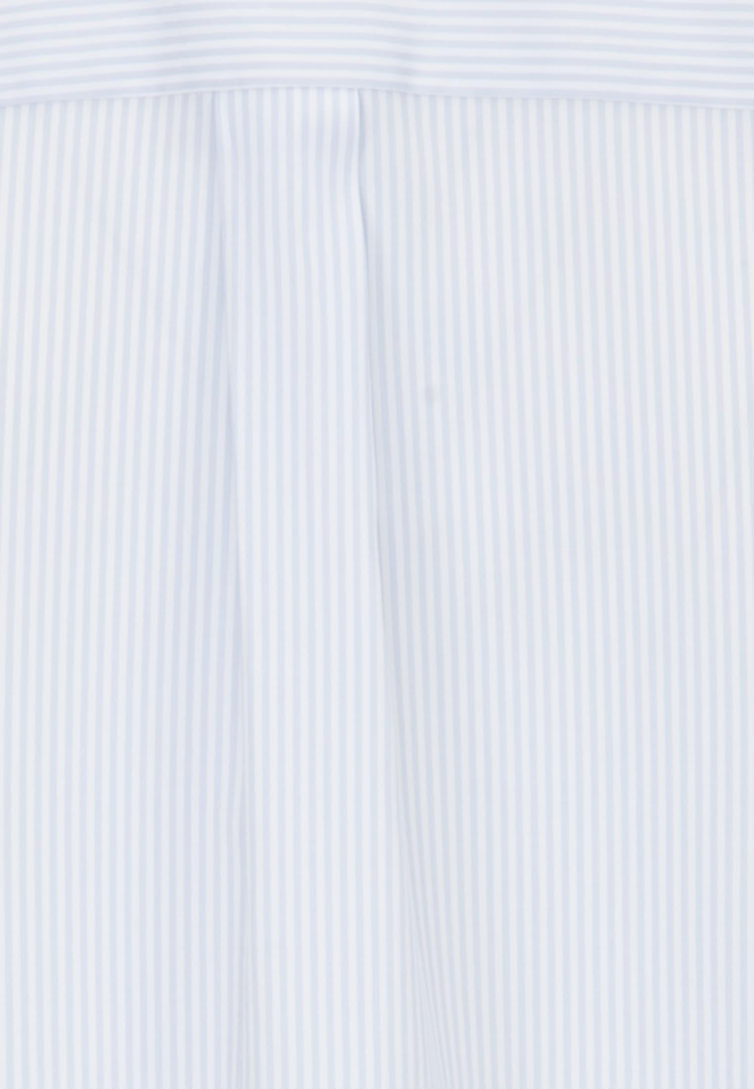 Popeline Rüschenbluse aus 100% Baumwolle in Hellblau |  Seidensticker Onlineshop