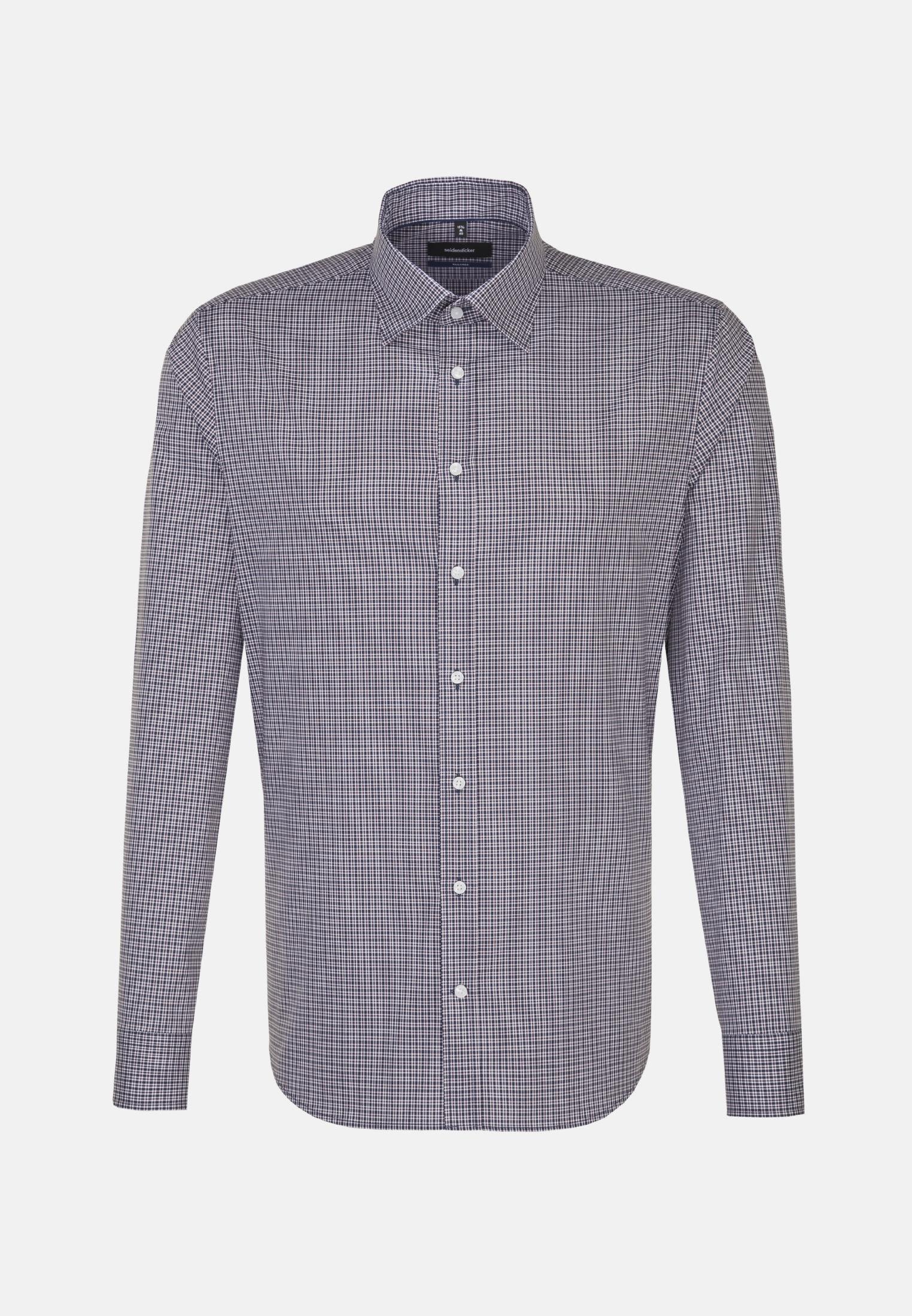 Bügelfreies Popeline Business Hemd in Tailored mit Covered-Button-Down-Kragen in Mittelblau    Seidensticker Onlineshop