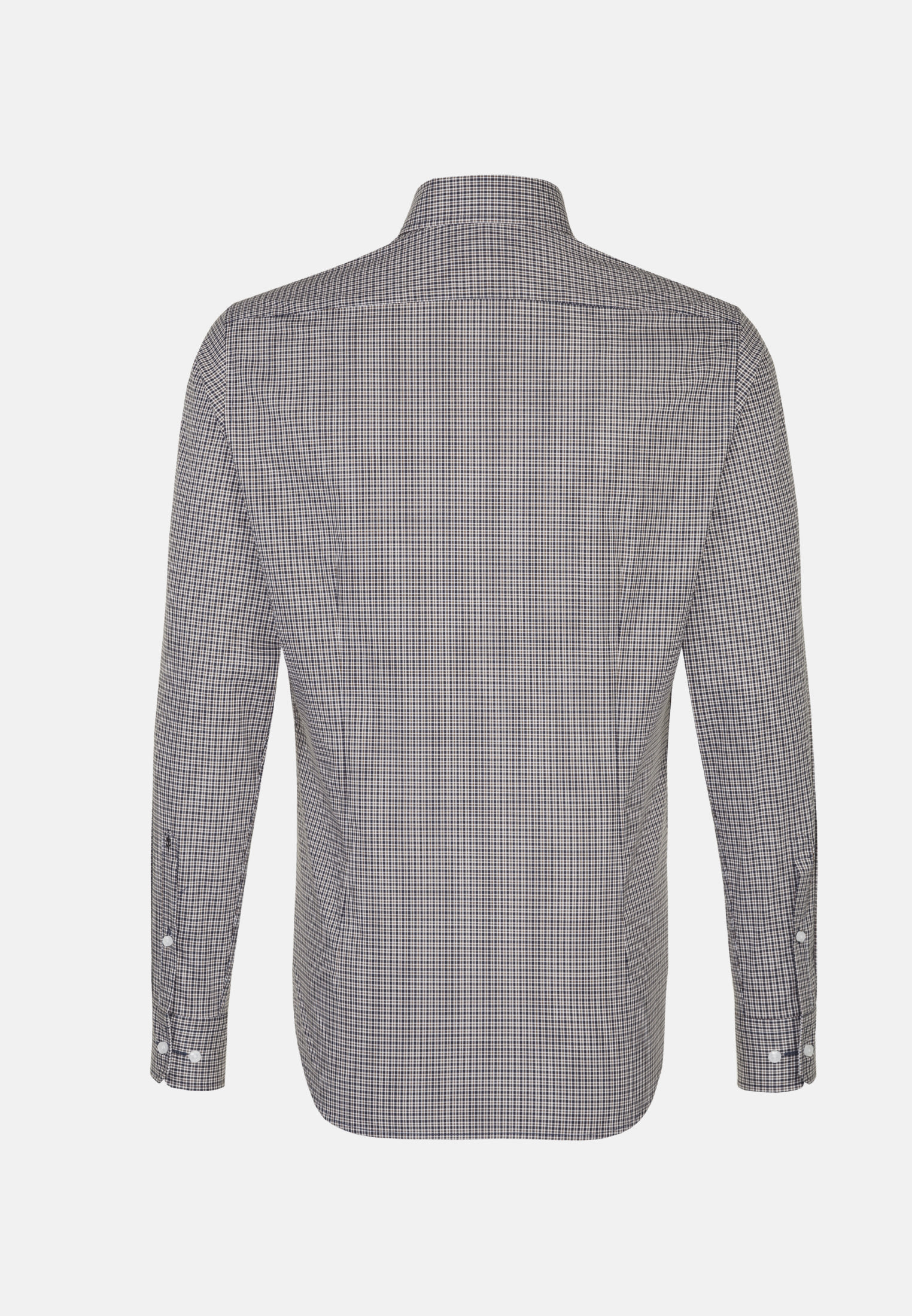Bügelfreies Popeline Business Hemd in Tailored mit Covered-Button-Down-Kragen in Braun |  Seidensticker Onlineshop