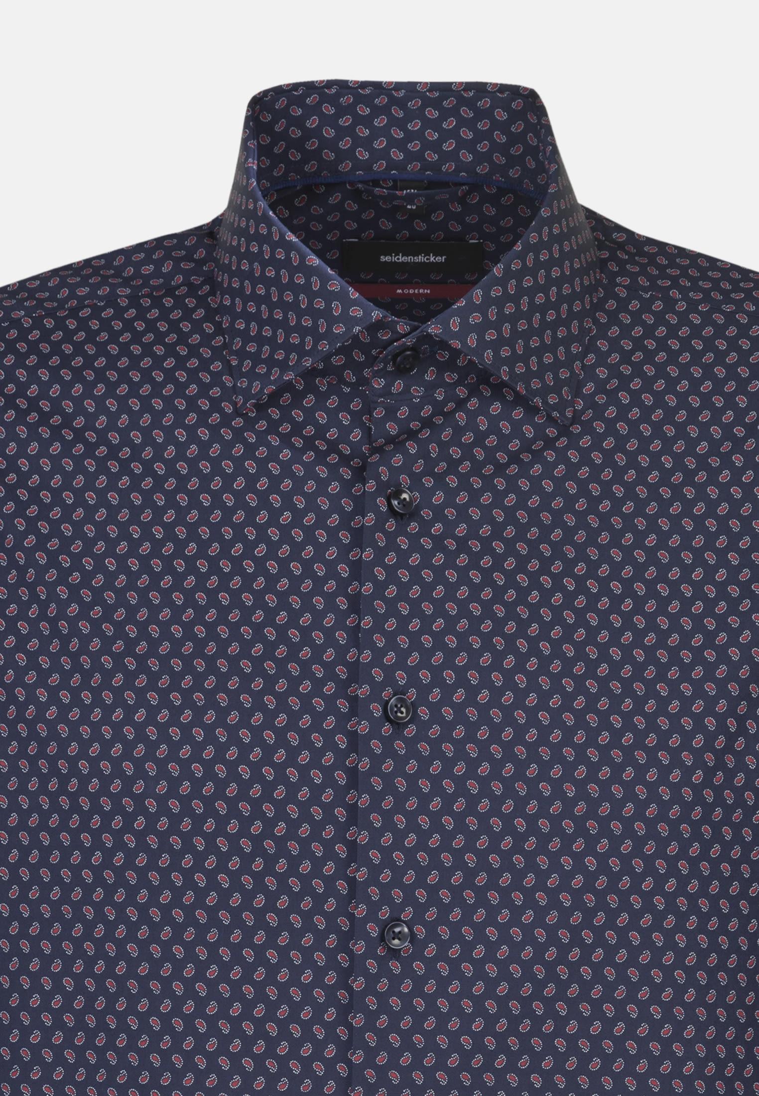 Easy-iron Poplin Business Shirt in Modern with Kent-Collar in Red |  Seidensticker Onlineshop