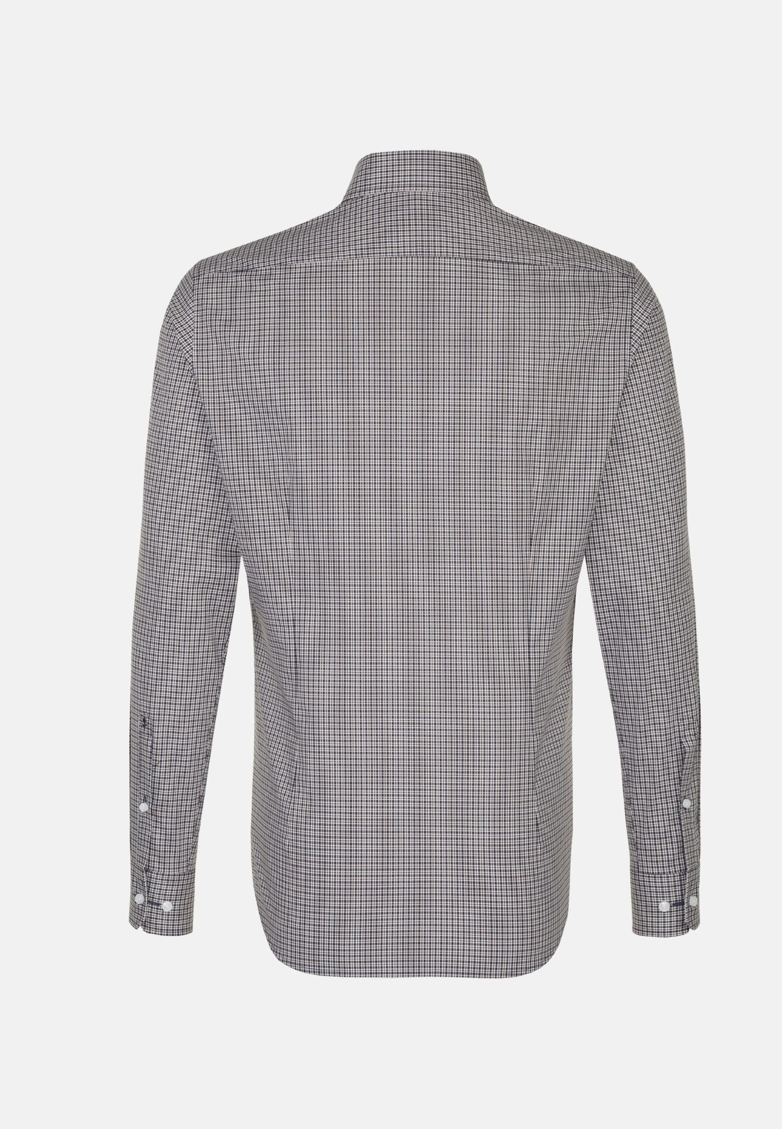 Bügelfreies Popeline Business Hemd in Slim mit Covered-Button-Down-Kragen in Braun |  Seidensticker Onlineshop