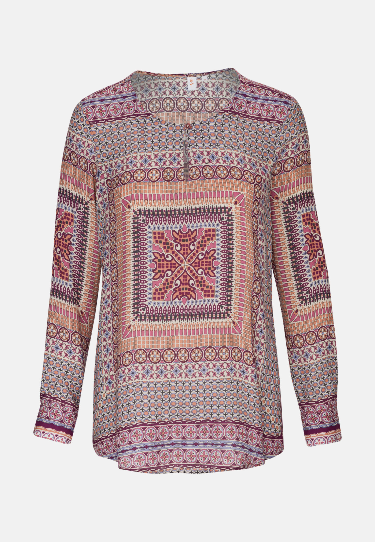 Satin Shirt Blouse made of 100% Viscose in Red |  Seidensticker Onlineshop