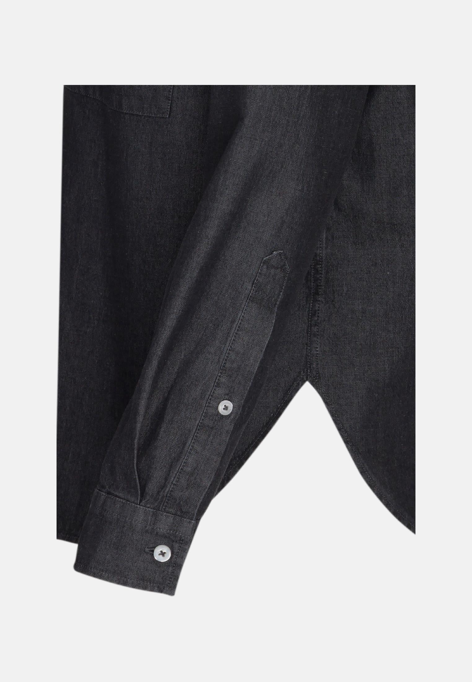 Denim Shirt Blouse made of 100% Cotton in Black |  Seidensticker Onlineshop