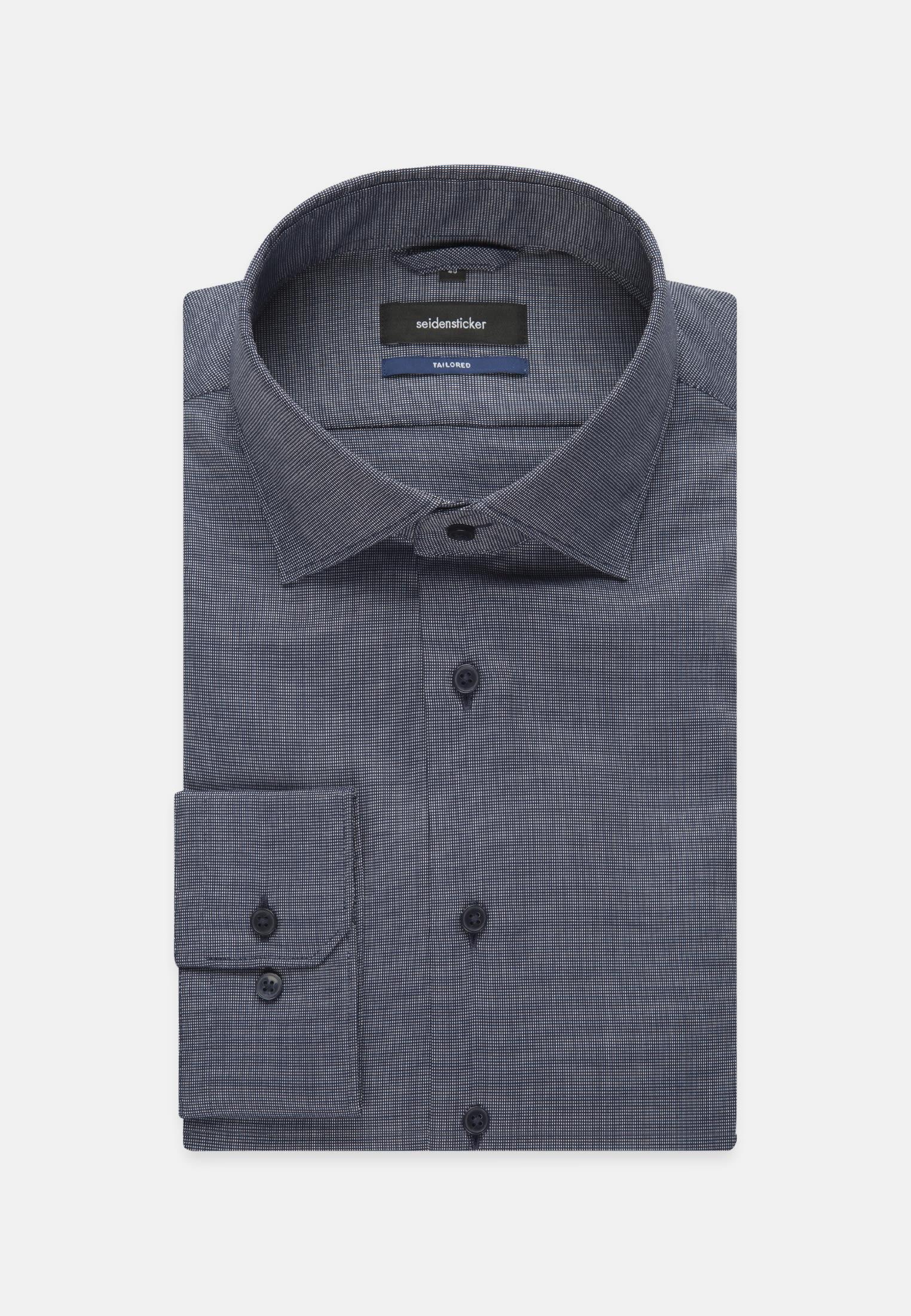 Easy-iron Structure Business Shirt in Tailored with Kent-Collar in Medium blue |  Seidensticker Onlineshop