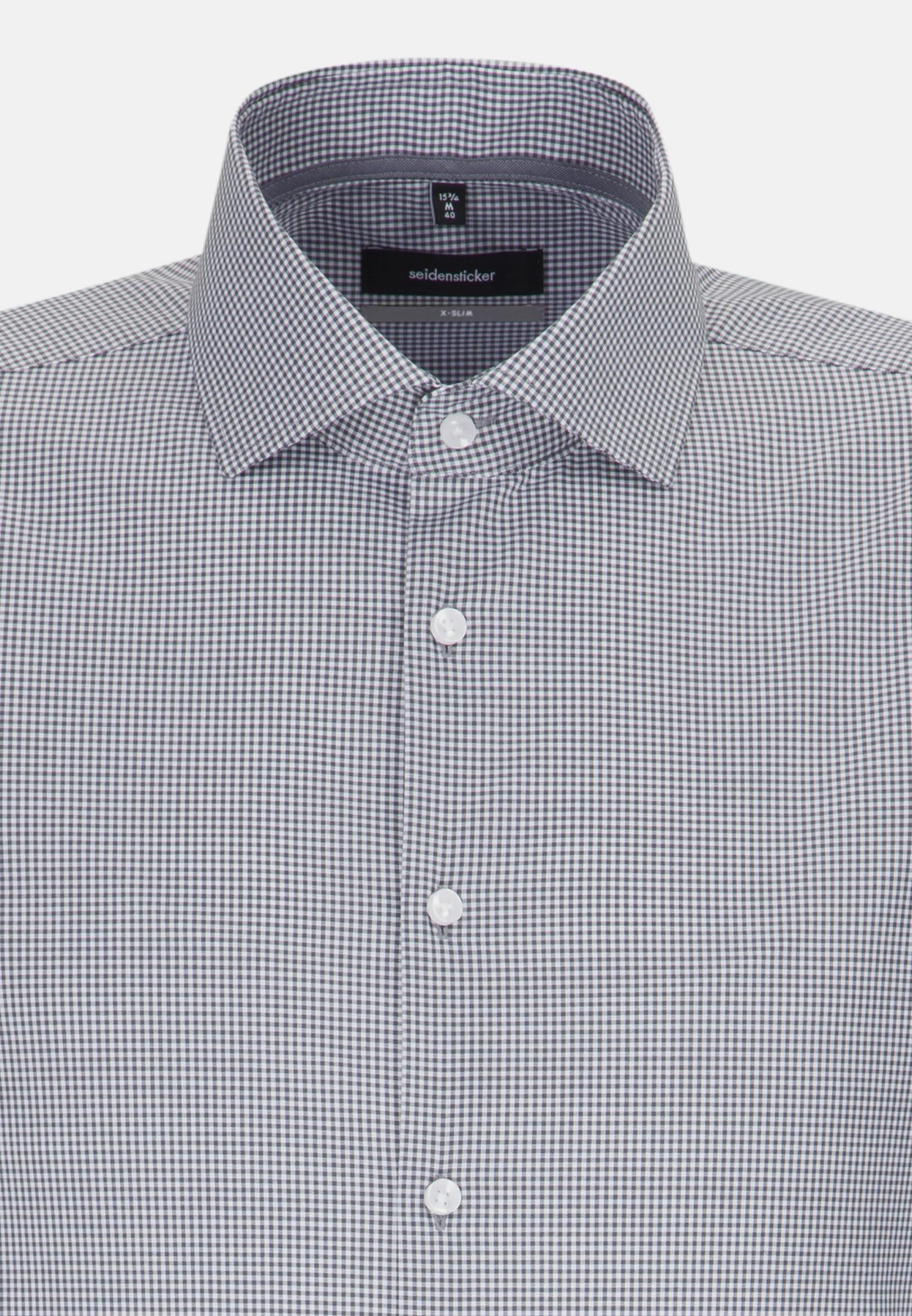 Non-iron Poplin Business Shirt in X-Slim with Kent-Collar in grau    Seidensticker Onlineshop