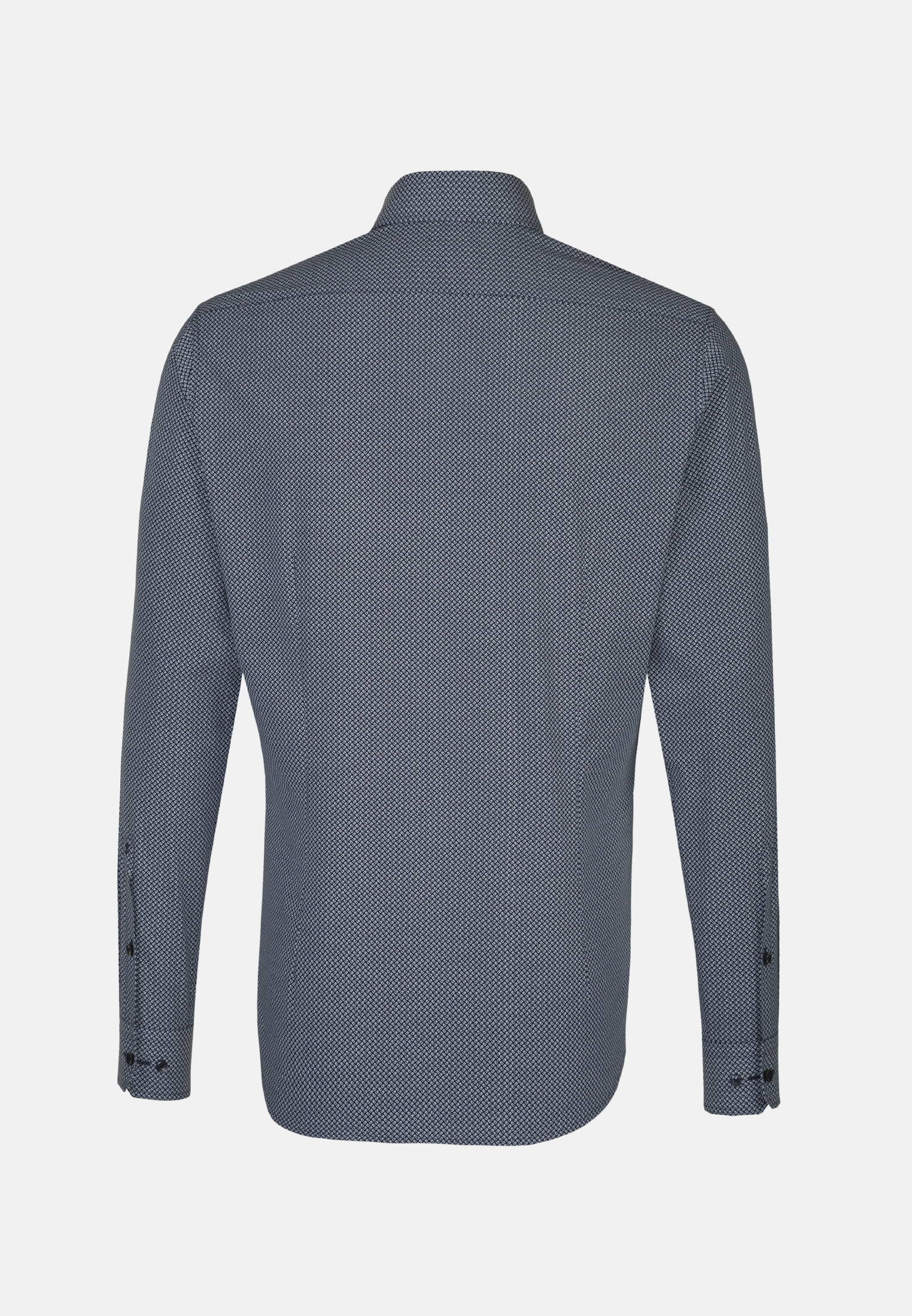 Easy-iron Poplin Business Shirt in X-Slim with Covered-Button-Down-Collar in blau |  Seidensticker Onlineshop