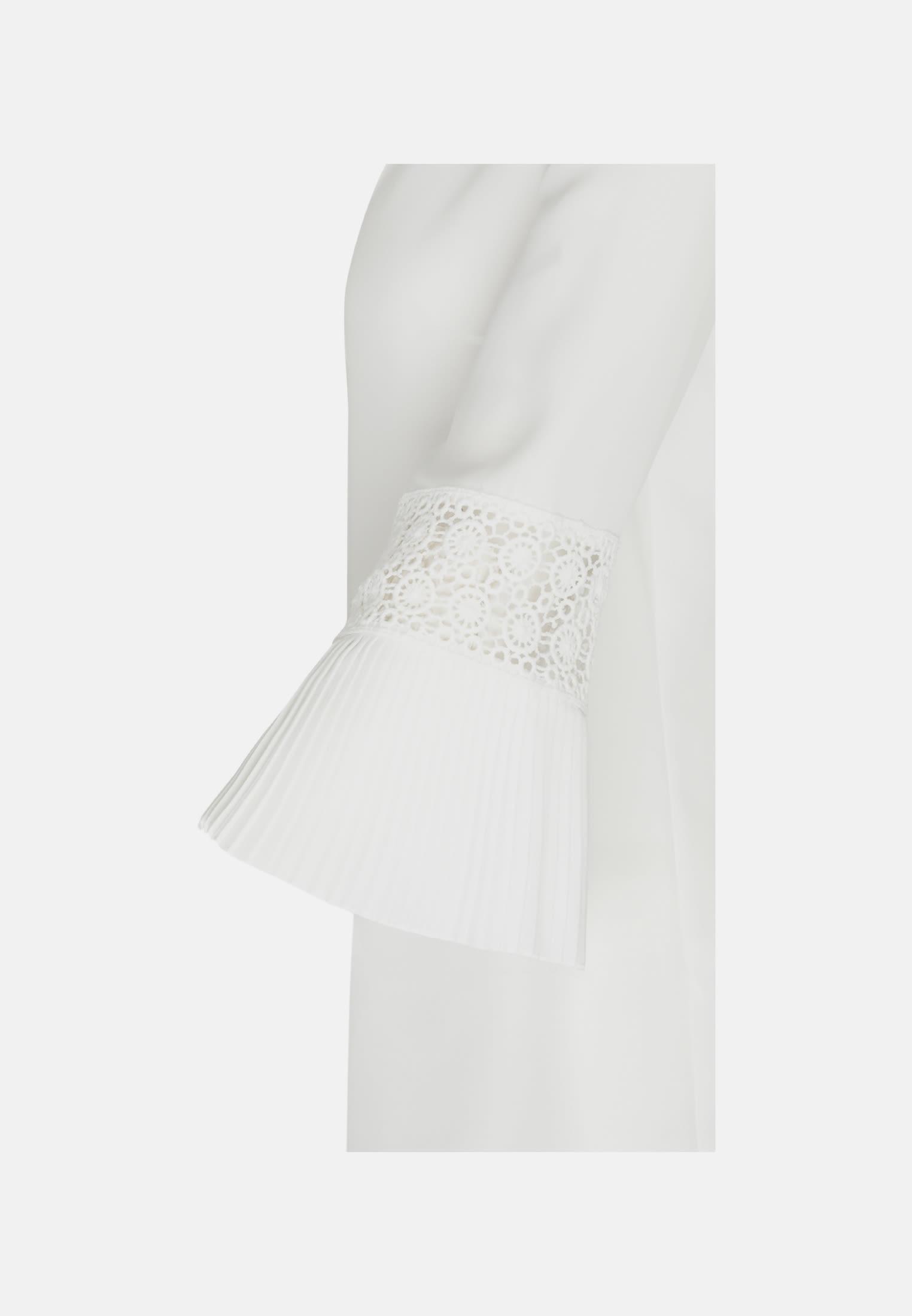 Chiffon Schluppenbluse aus 100% Polyester in Ecru |  Seidensticker Onlineshop