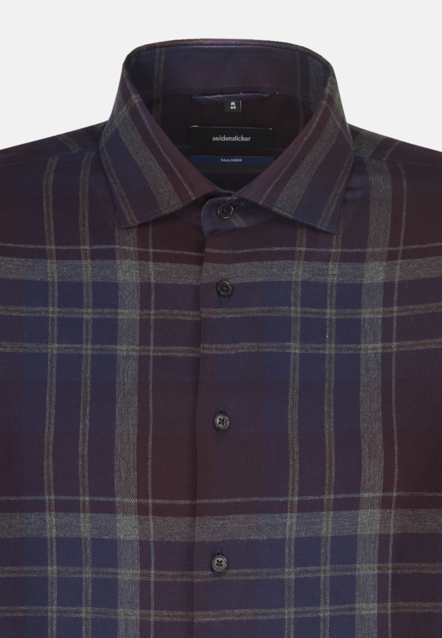 Easy-iron Twill Business Shirt in Tailored with Kent-Collar in blau |  Seidensticker Onlineshop