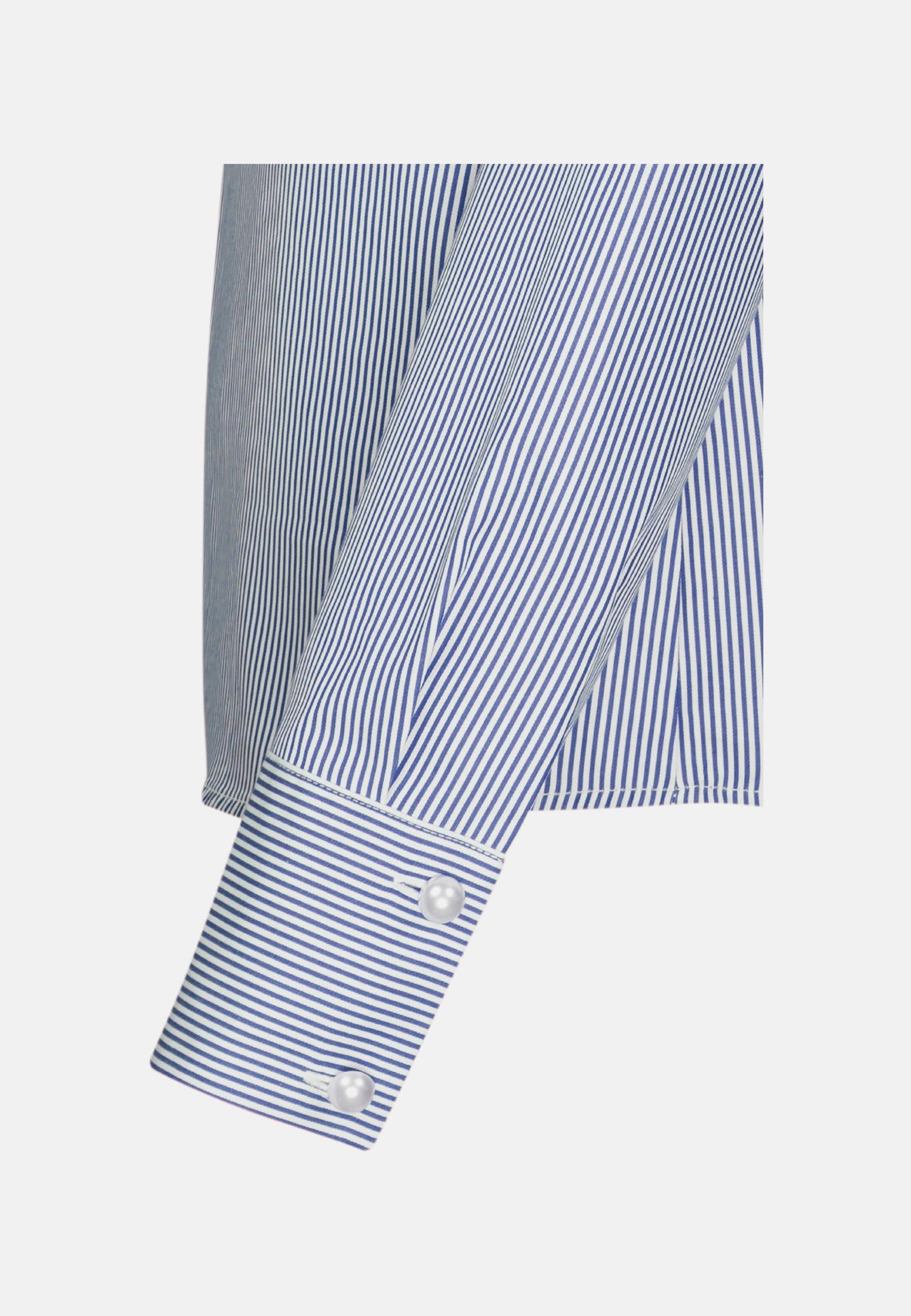 Poplin Ruched Blouse made of 100% Cotton in Medium blue |  Seidensticker Onlineshop