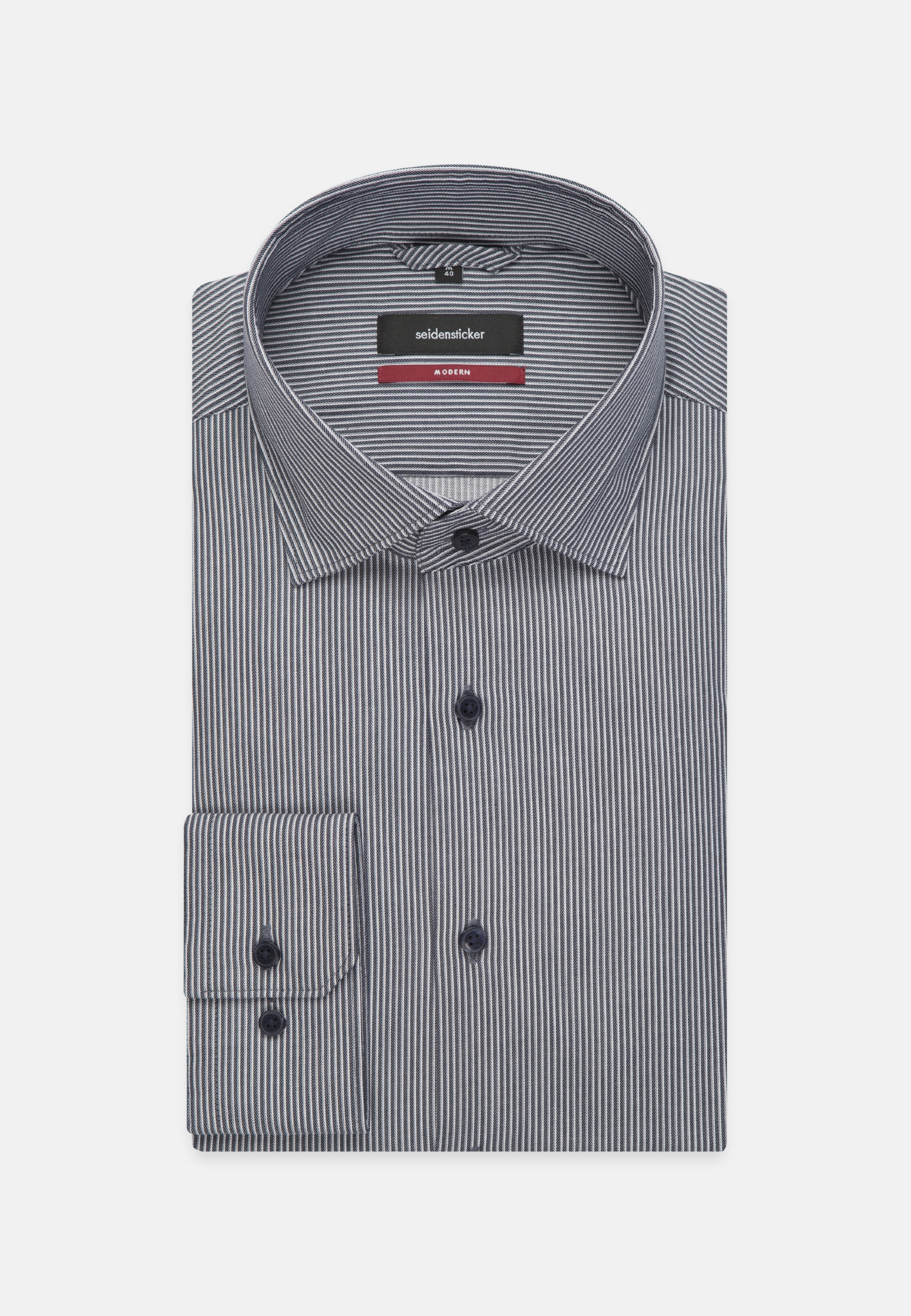 Easy-iron Twill Business Shirt in Regular with Kent-Collar in Medium blue |  Seidensticker Onlineshop