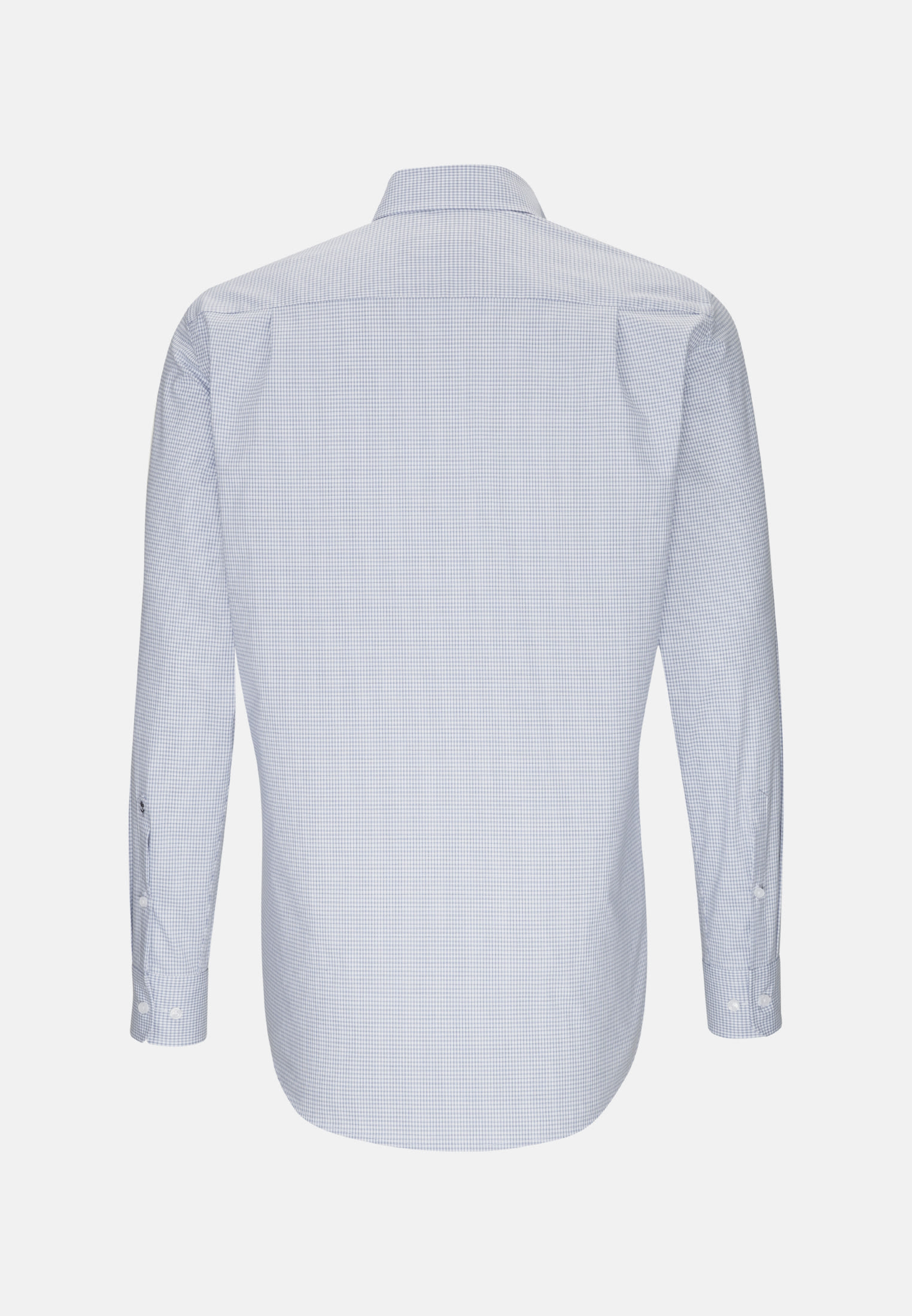 Non-iron Poplin Business Shirt in Regular with Button-Down-Collar in Light blue |  Seidensticker Onlineshop