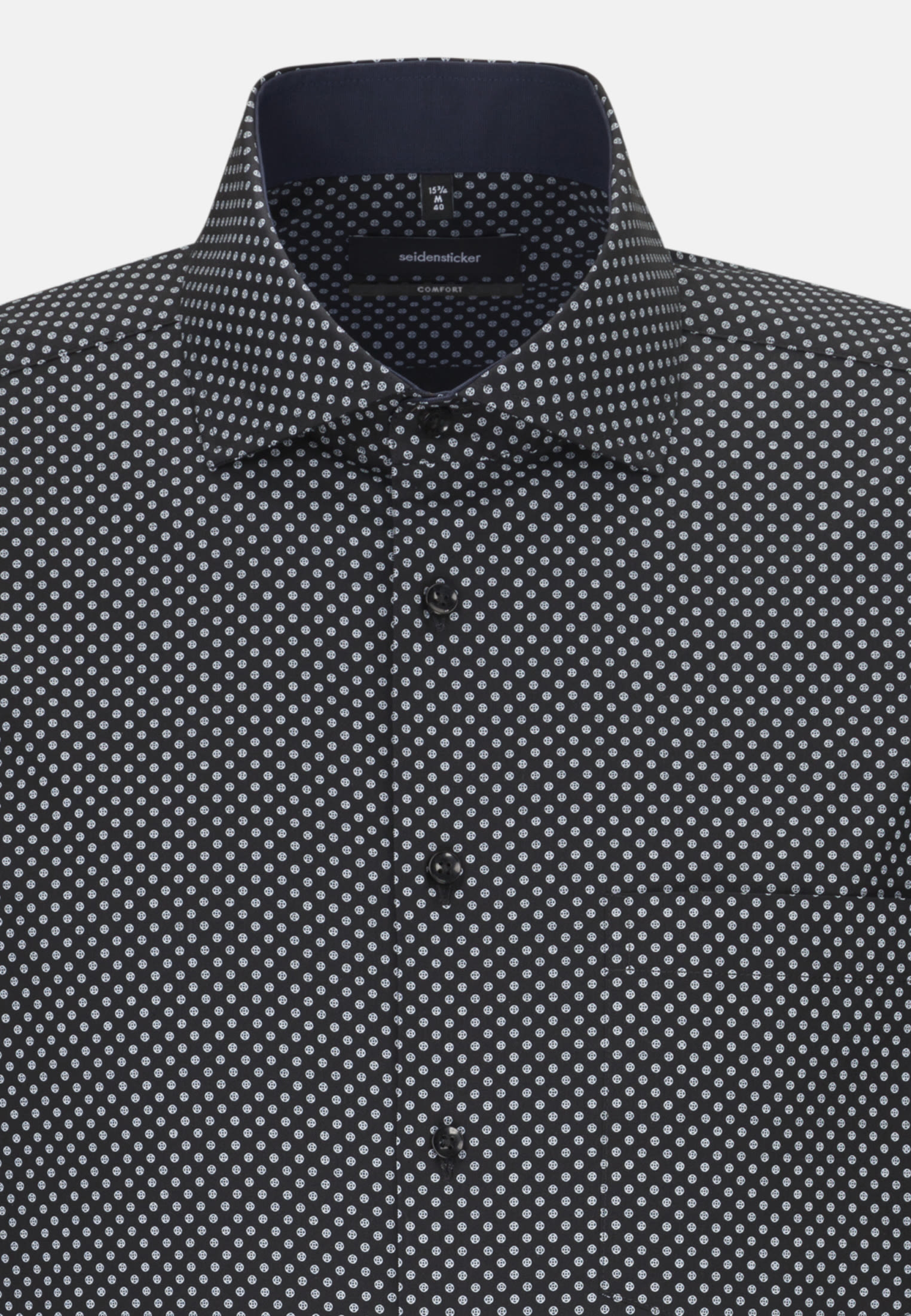 Easy-iron Poplin Business Shirt in Comfort with Kent-Collar in Grey |  Seidensticker Onlineshop