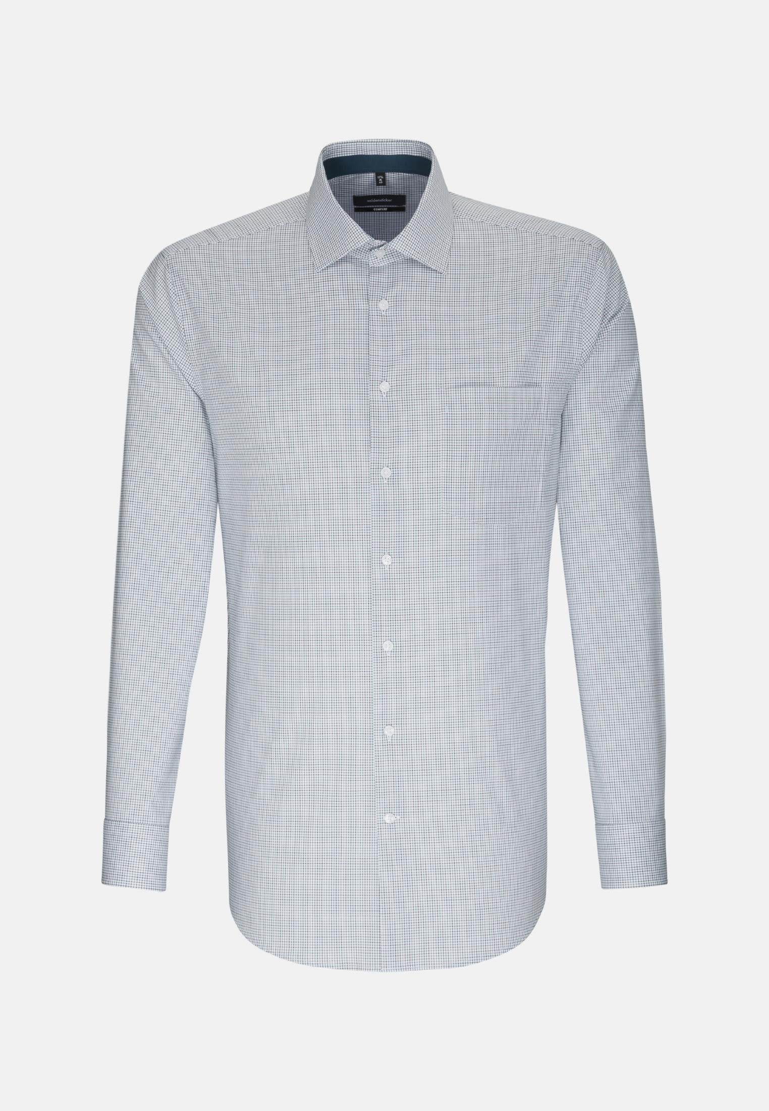 Non-iron Poplin Business Shirt in Comfort with Kent-Collar in Green    Seidensticker Onlineshop