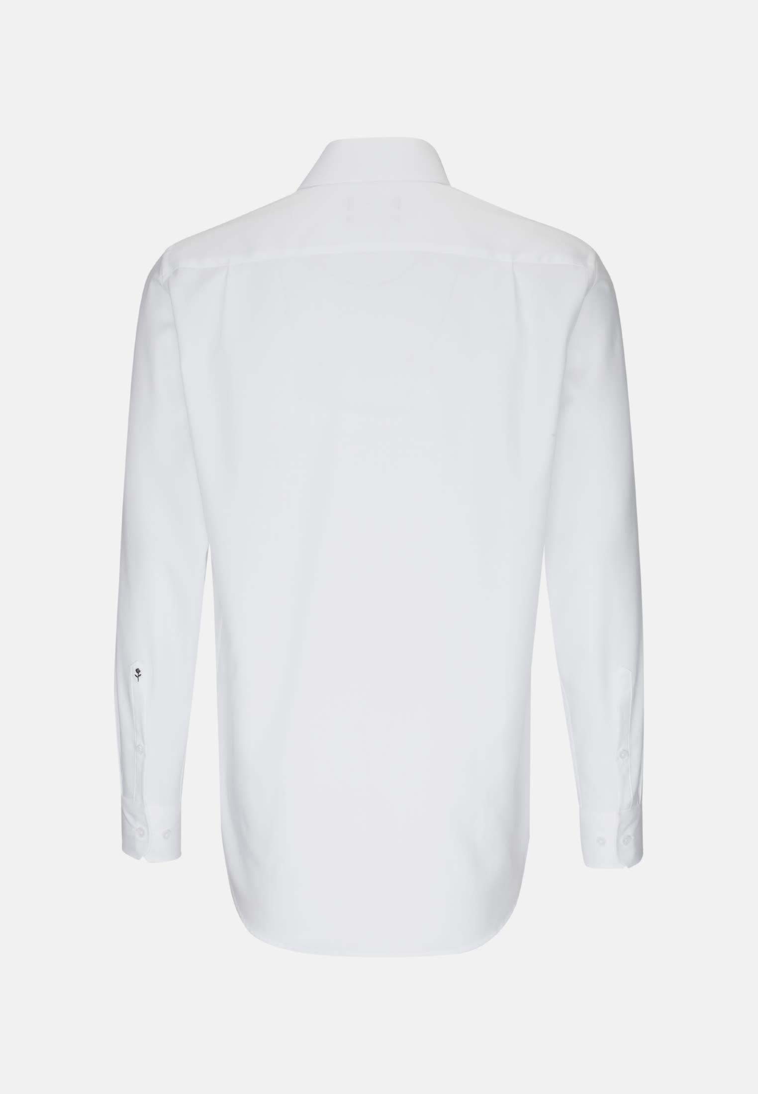Non-iron Herringbone pattern Business Shirt in Modern with Kent-Collar in weiß    Seidensticker Onlineshop