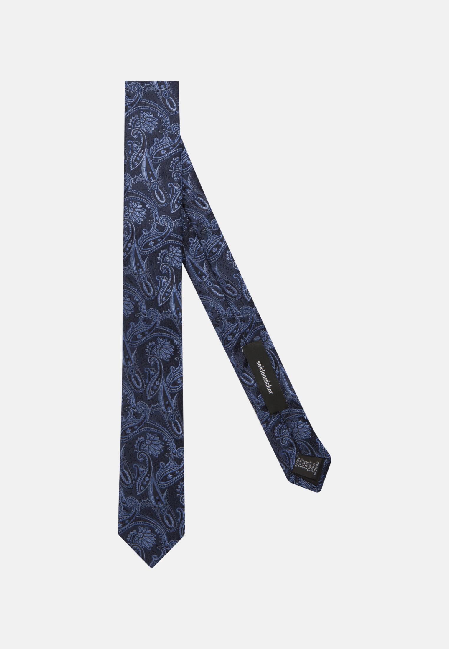 Tie made of 100% Silk 5 cm wide in blau    Seidensticker Onlineshop