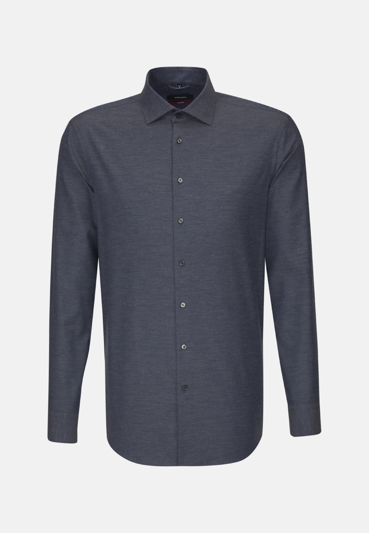 Easy-iron Twill Business Shirt in Modern with Kent-Collar in Medium blue |  Seidensticker Onlineshop