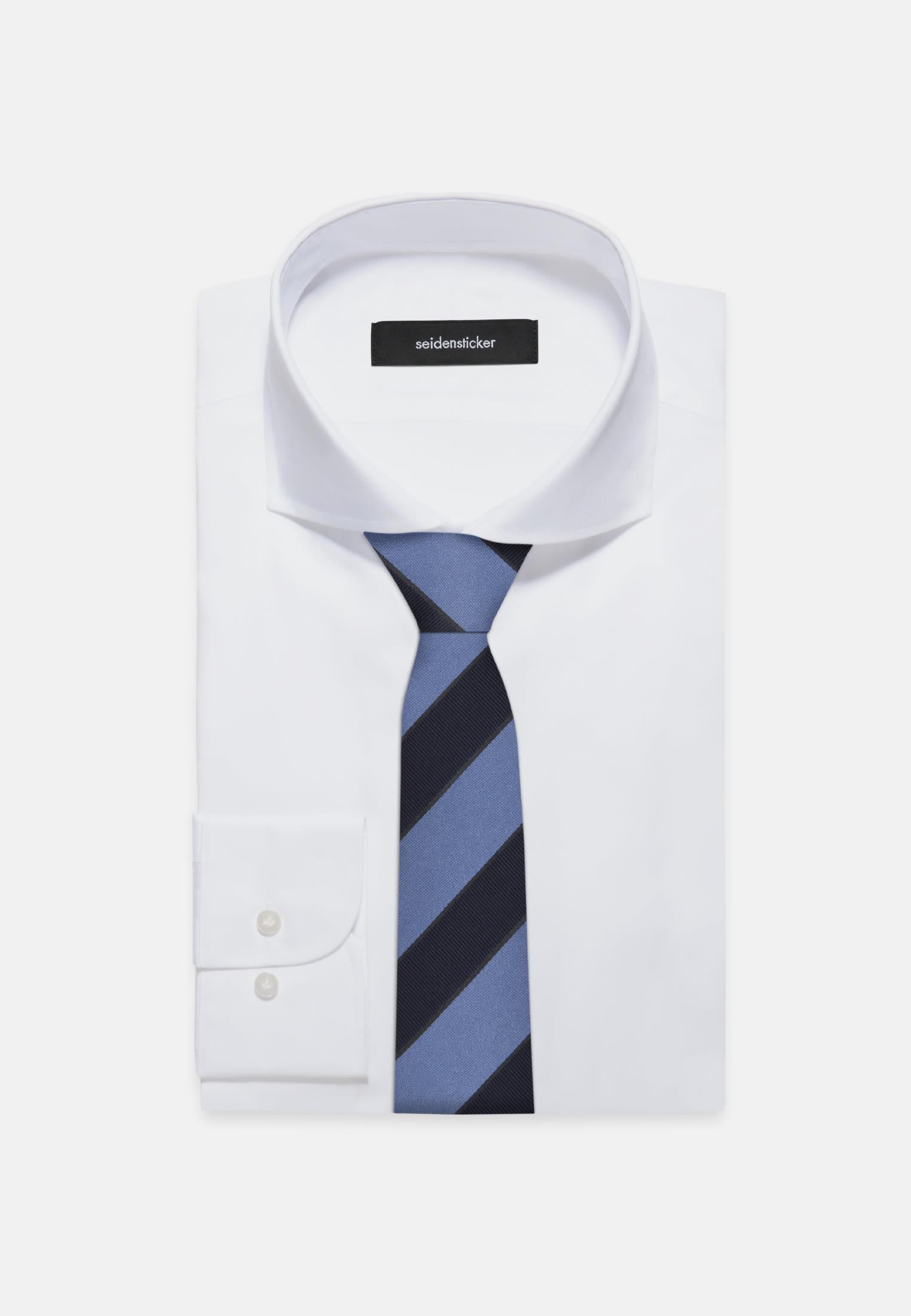 Tie made of 100% Silk 7 cm wide in blau |  Seidensticker Onlineshop