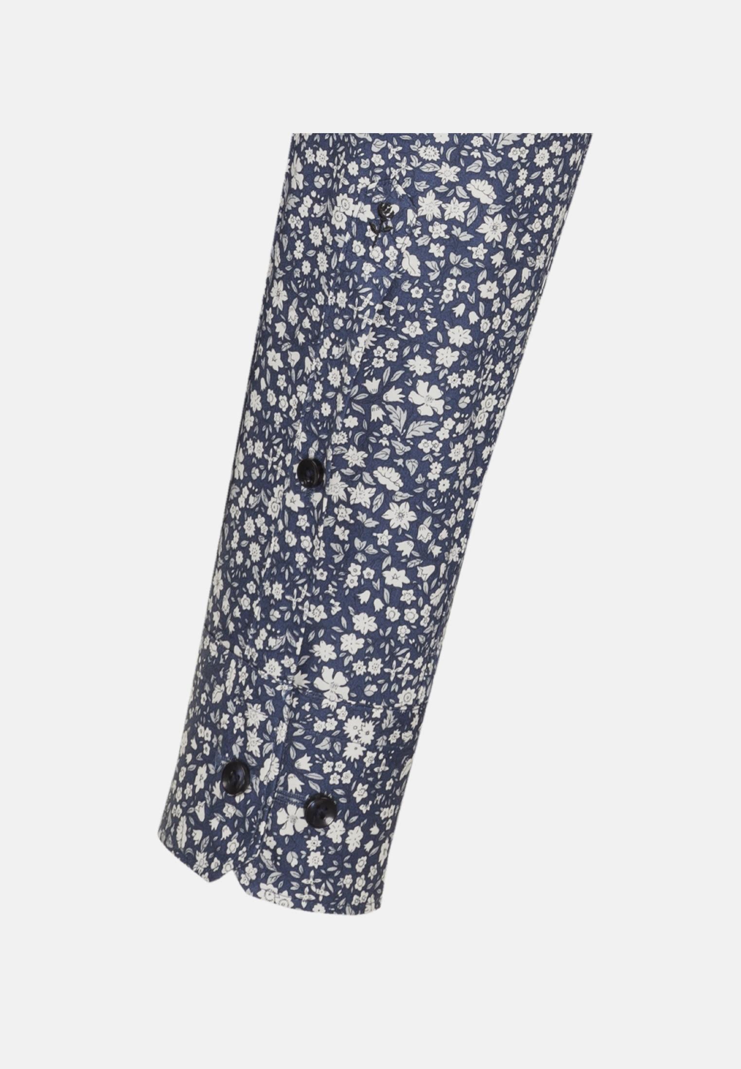 Bügelleichtes Popeline Business Hemd in Tailored mit Kentkragen in Mittelblau |  Seidensticker Onlineshop