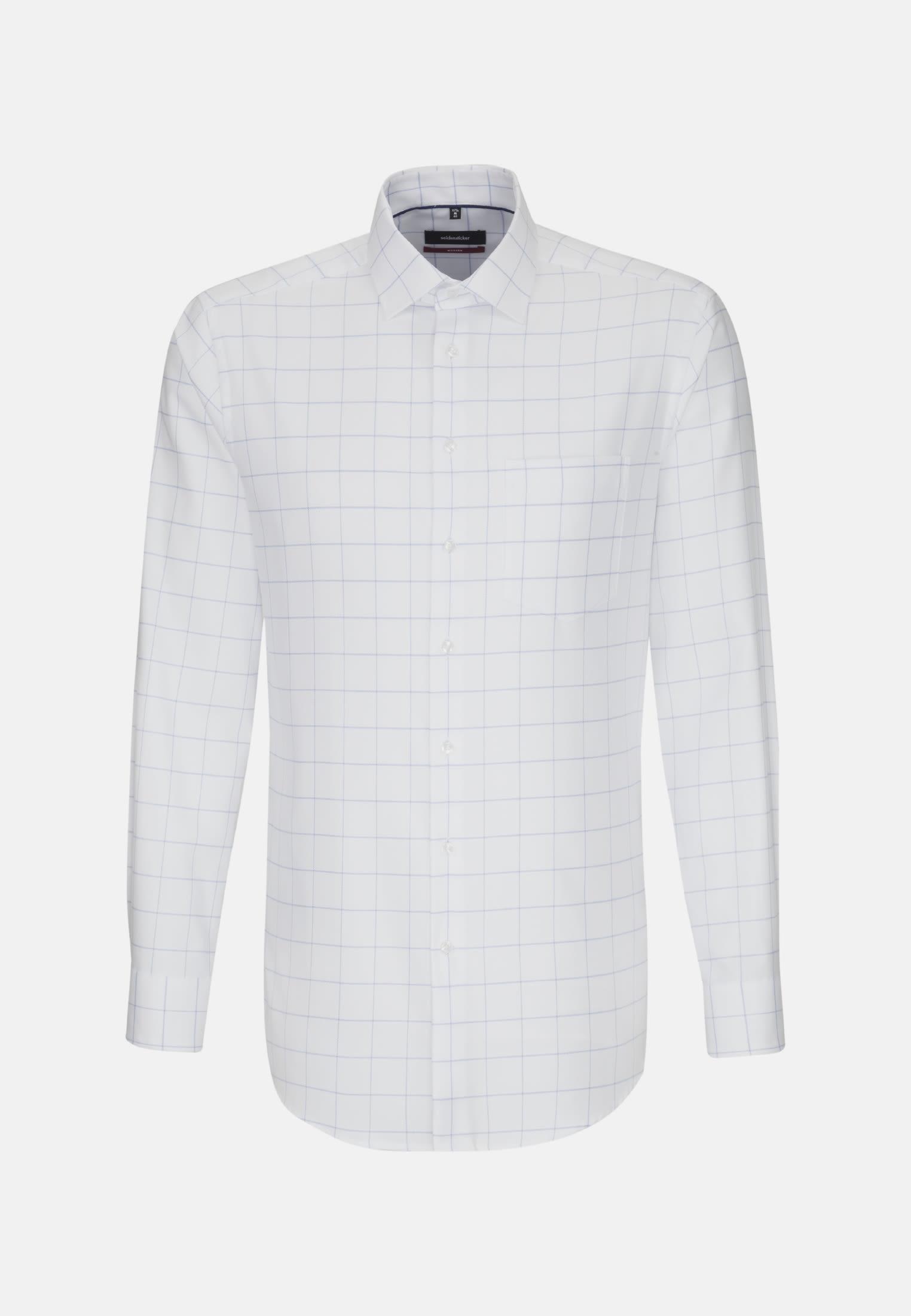 Easy-iron Structure Business Shirt in Regular with Kent-Collar in Light blue    Seidensticker Onlineshop
