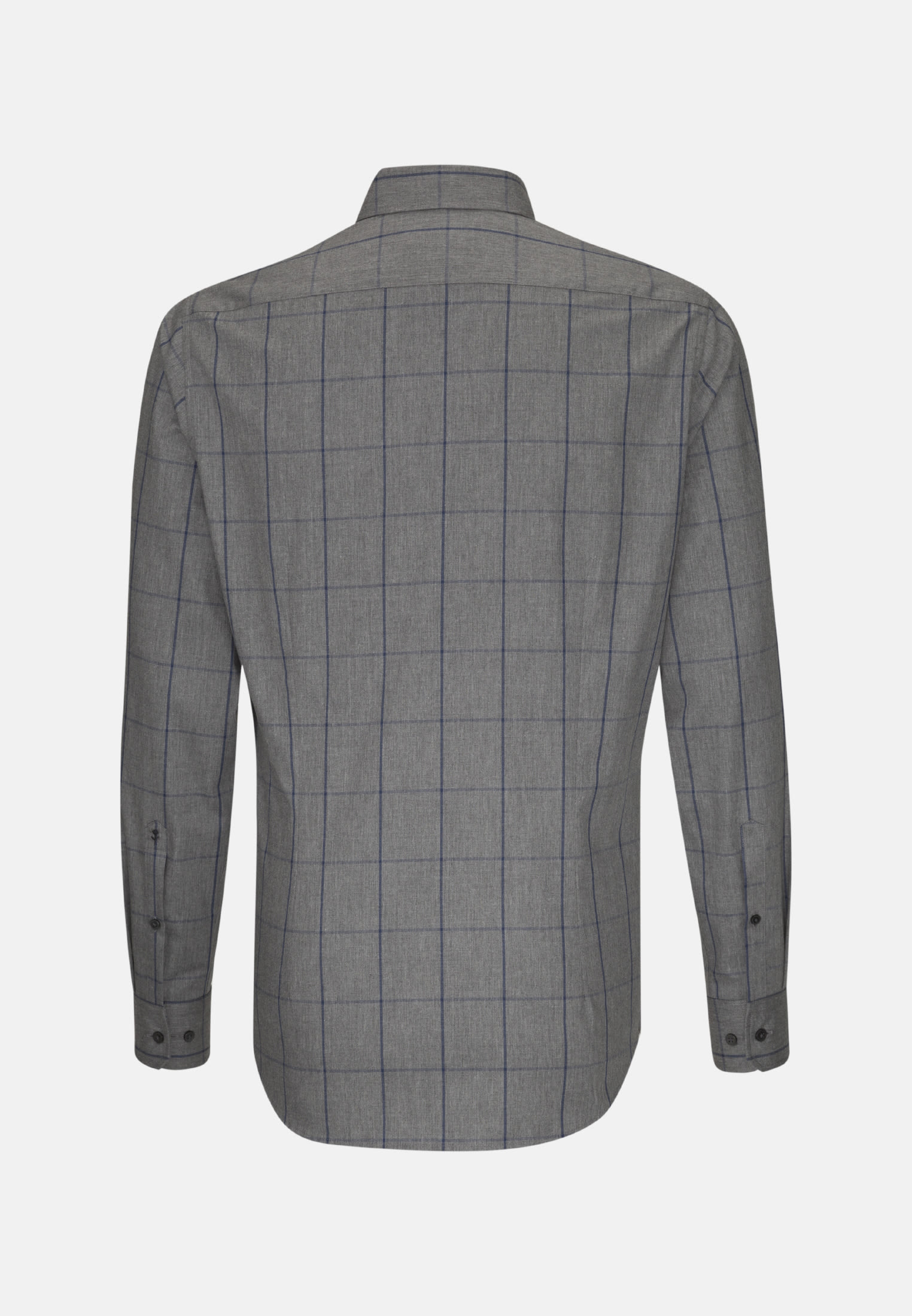 Easy-iron Twill Business Shirt in Shaped with Button-Down-Collar in Grey |  Seidensticker Onlineshop