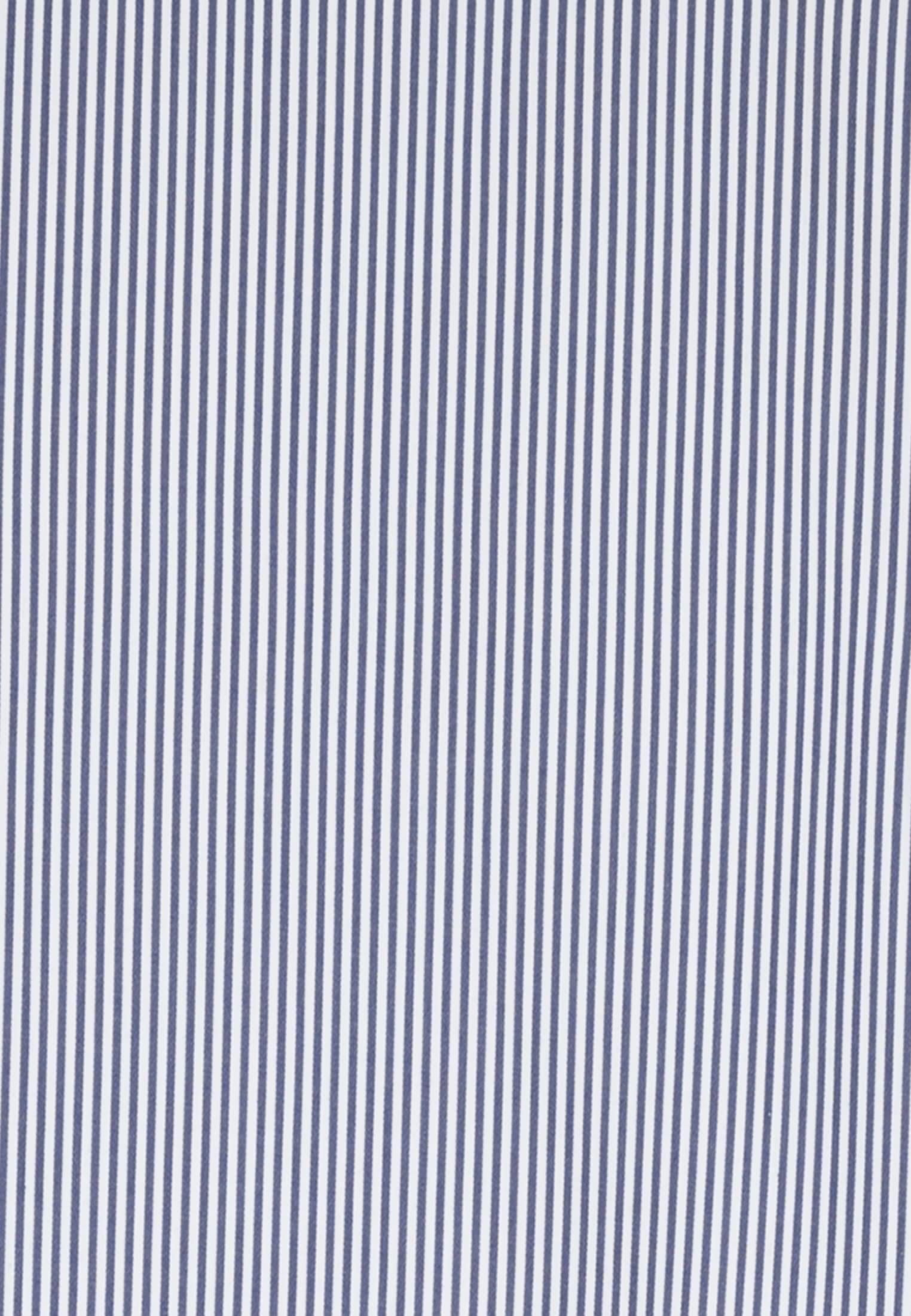 Popeline Stehkragenbluse aus in Mittelblau |  Seidensticker Onlineshop
