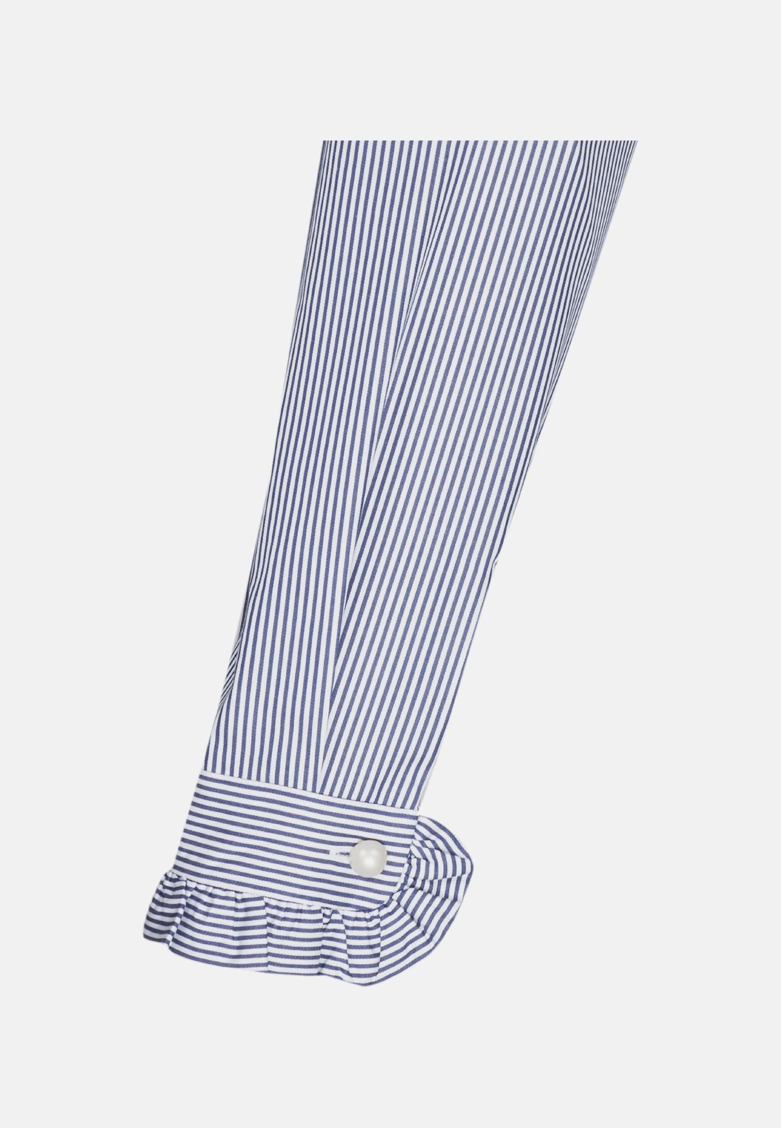 Poplin Stand-Up Blouse made of in Medium blue |  Seidensticker Onlineshop