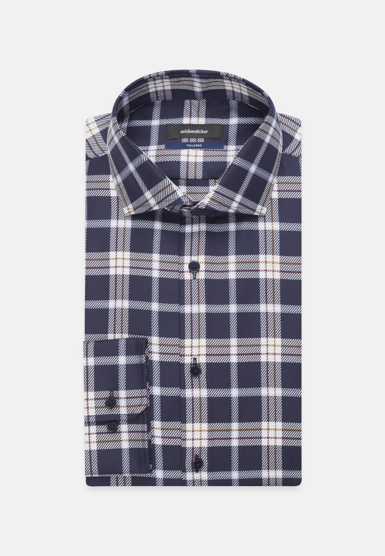 Non-iron Twill Business Shirt in Tailored with Kent-Collar in blau    Seidensticker Onlineshop