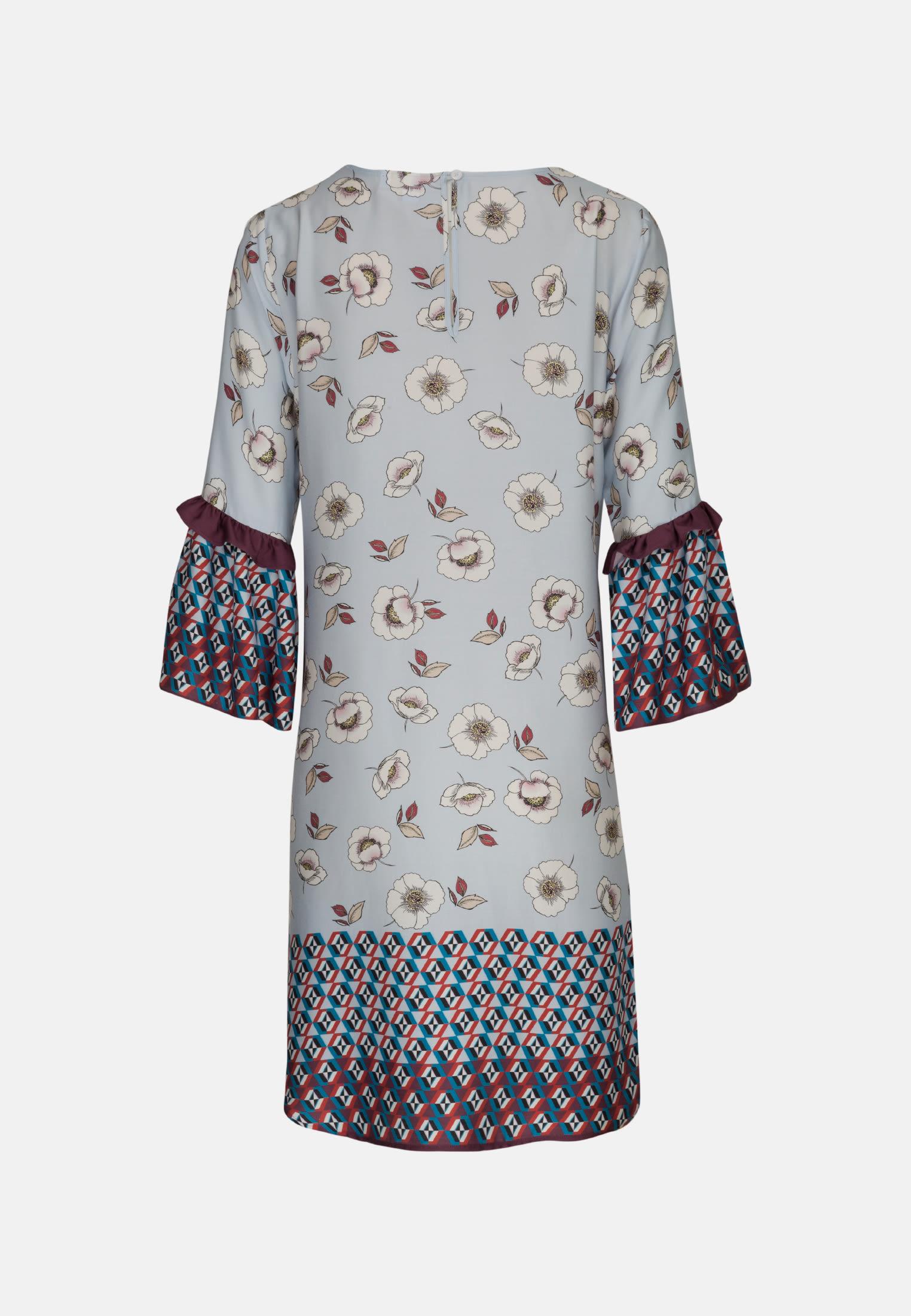 3/4 sleeve Satin Shirt Blouse aus 100% Viscose in Light blue |  Seidensticker Onlineshop