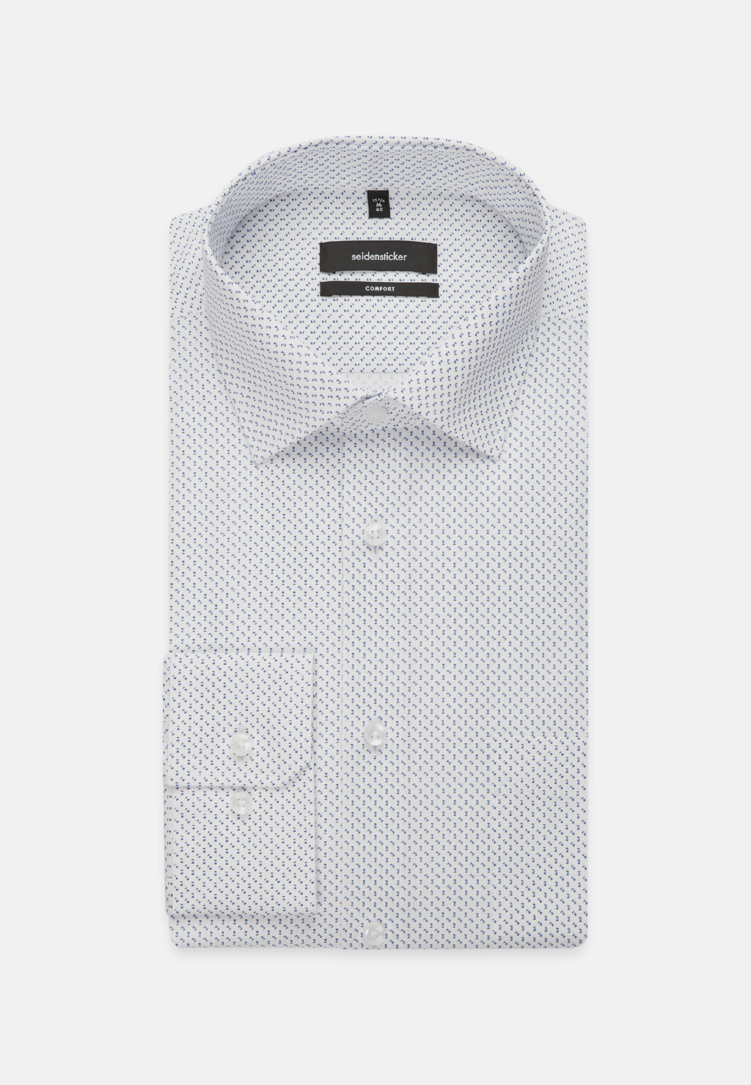 Easy-iron Poplin Business Shirt in Comfort with Kent-Collar and extra long sleeve in Light blue |  Seidensticker Onlineshop