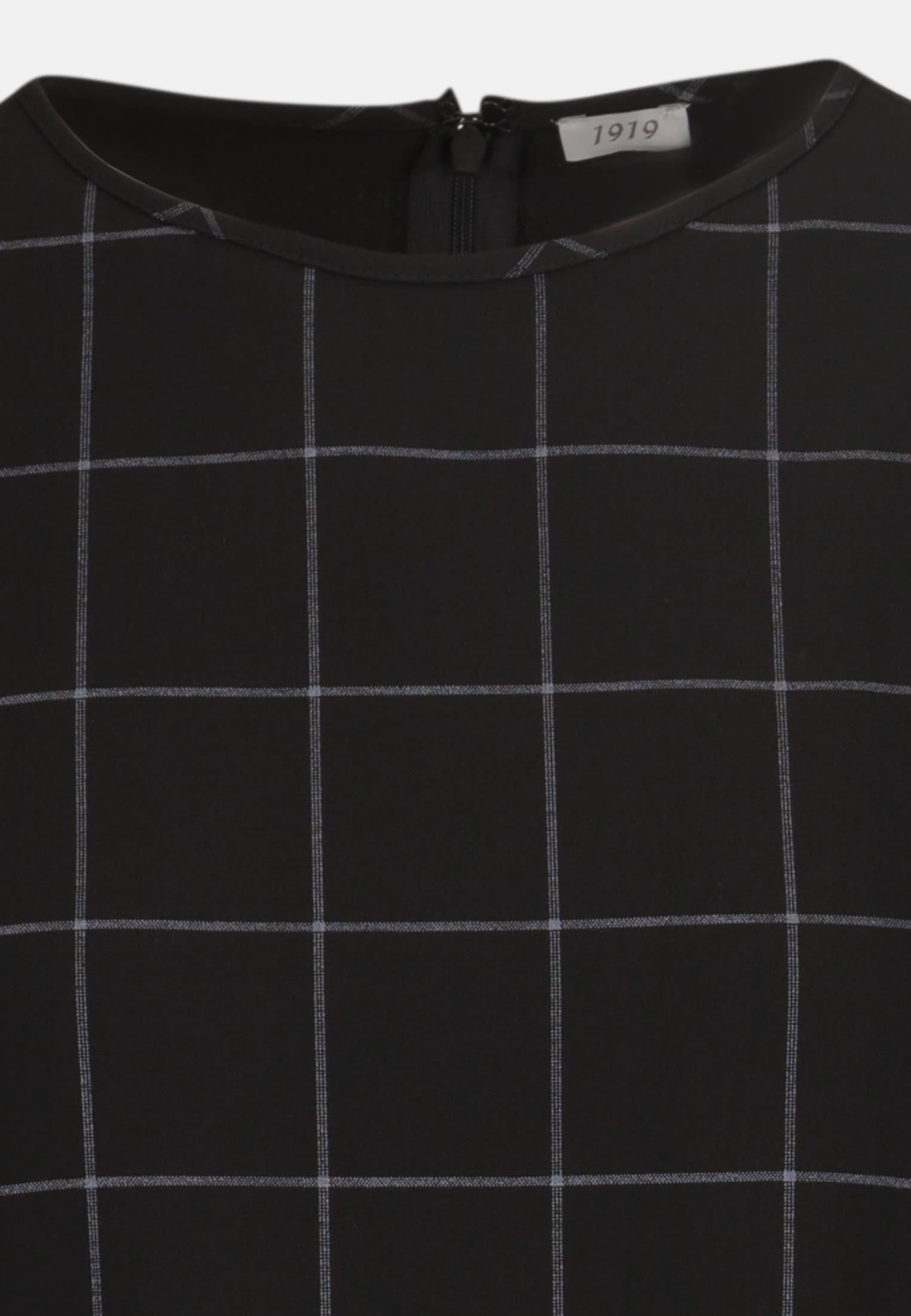 Flanell Shirtbluse aus Kunstfasermischung in Schwarz |  Seidensticker Onlineshop