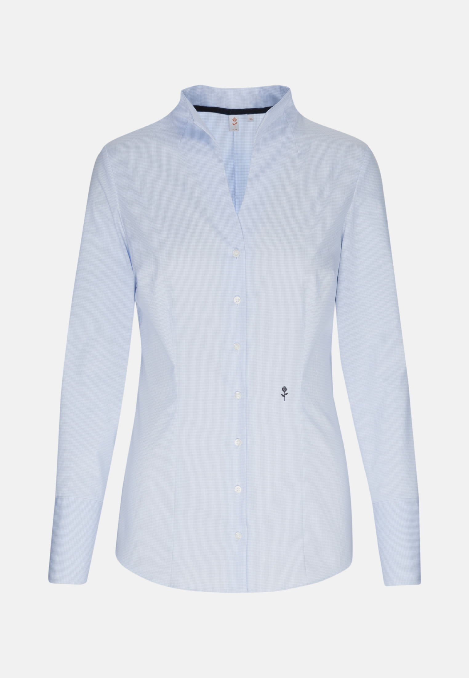 Non-iron Poplin Chalice Blouse made of 100% Cotton in Light blue |  Seidensticker Onlineshop