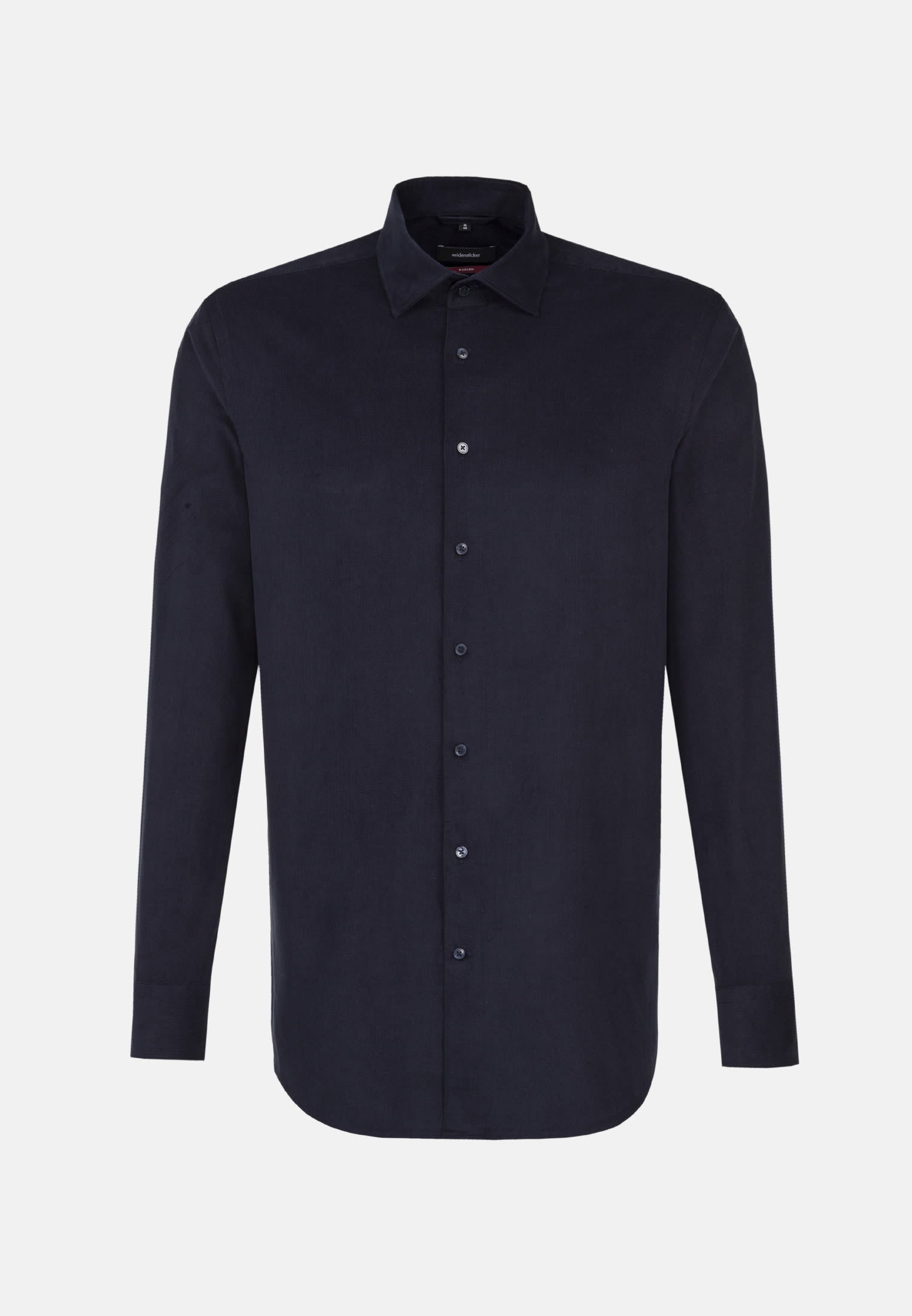 Easy-iron Corduroy Business Shirt in Regular with Kent-Collar in Dark blue |  Seidensticker Onlineshop