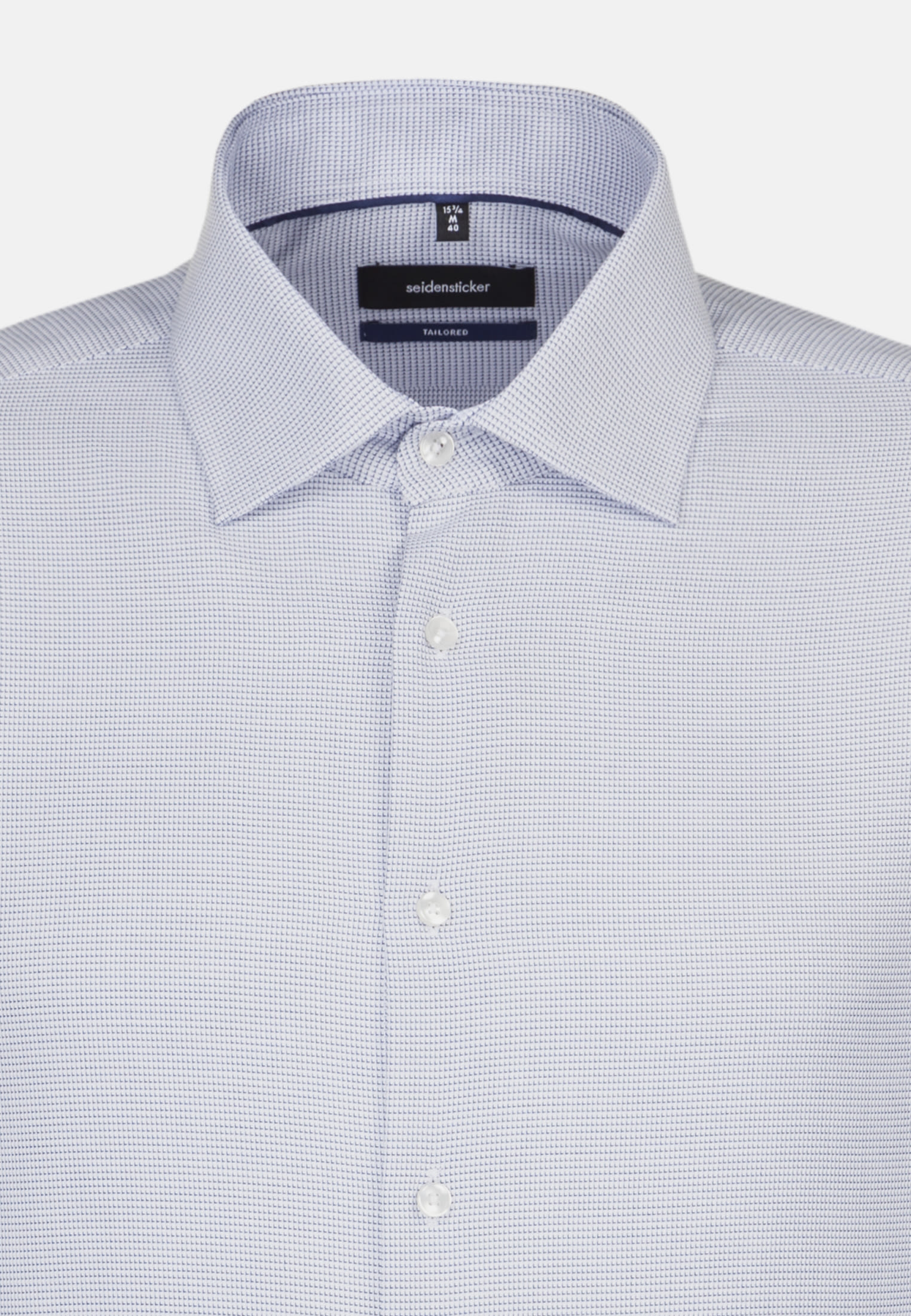 Easy-iron Structure Business Shirt in Tailored with Kent-Collar in blau |  Seidensticker Onlineshop