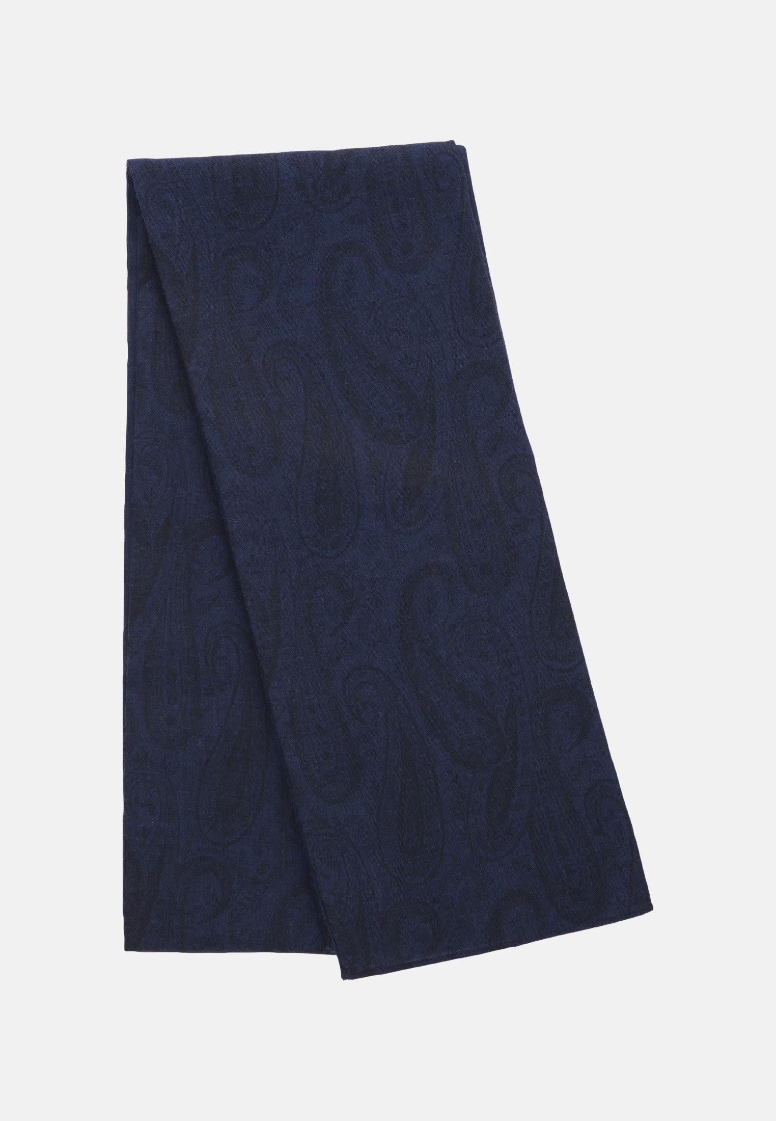 Scarf made of 100% Wool in Medium blue |  Seidensticker Onlineshop