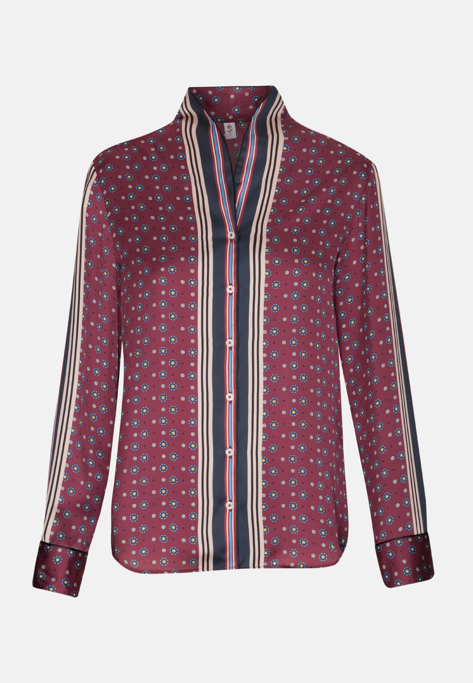 Satin Shawl Collar Blouse made of 100% Polyester in Red |  Seidensticker Onlineshop