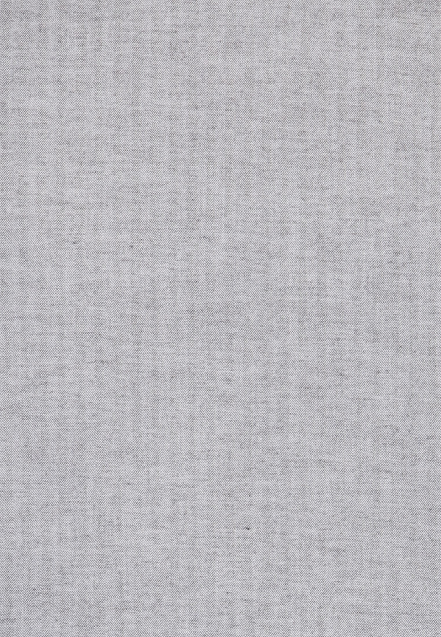 Easy-iron Herringbone pattern Business Shirt in Shaped with Kent-Collar in Grey |  Seidensticker Onlineshop