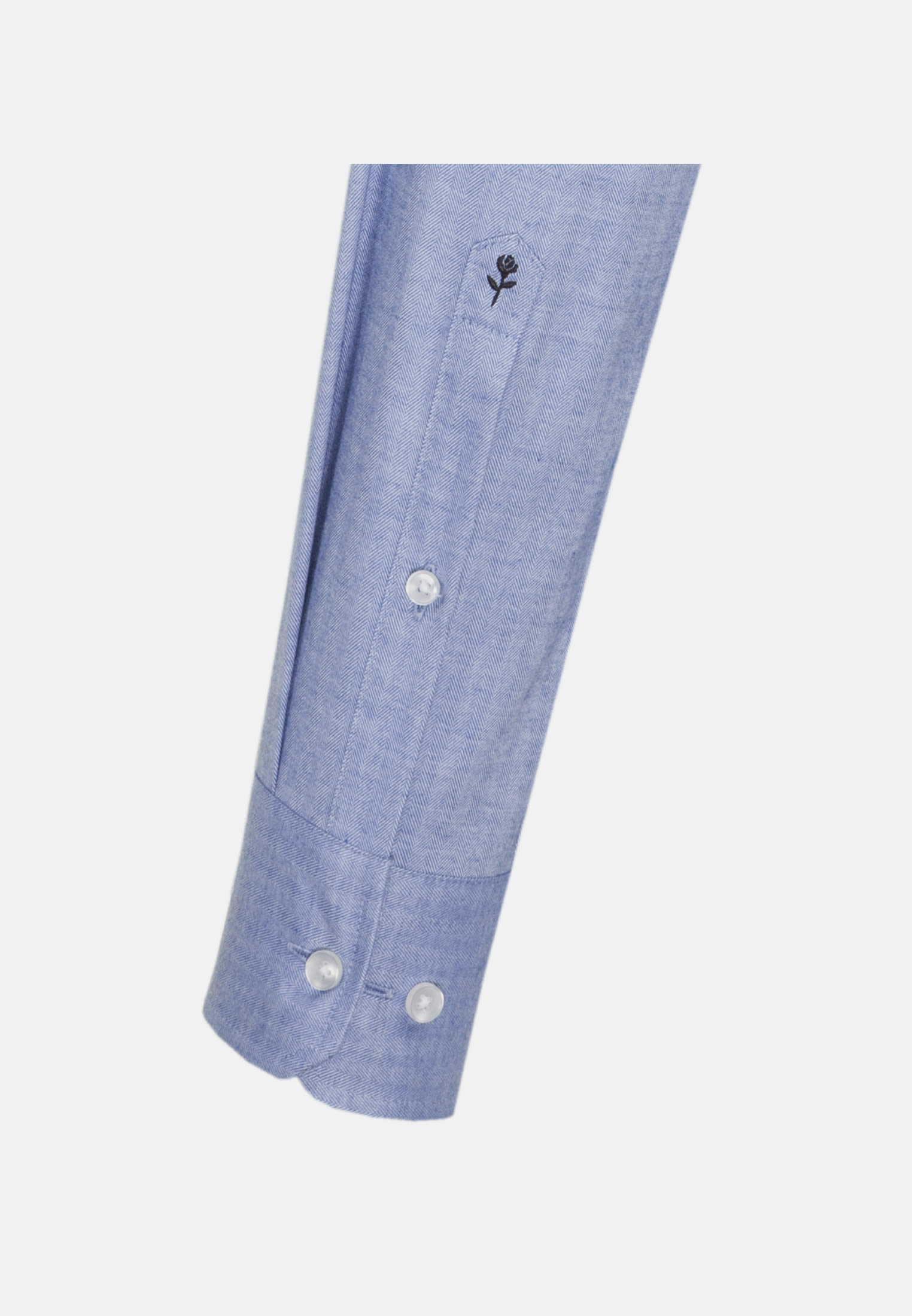 Easy-iron Herringbone pattern Business Shirt in Slim with Kent-Collar in Light blue |  Seidensticker Onlineshop