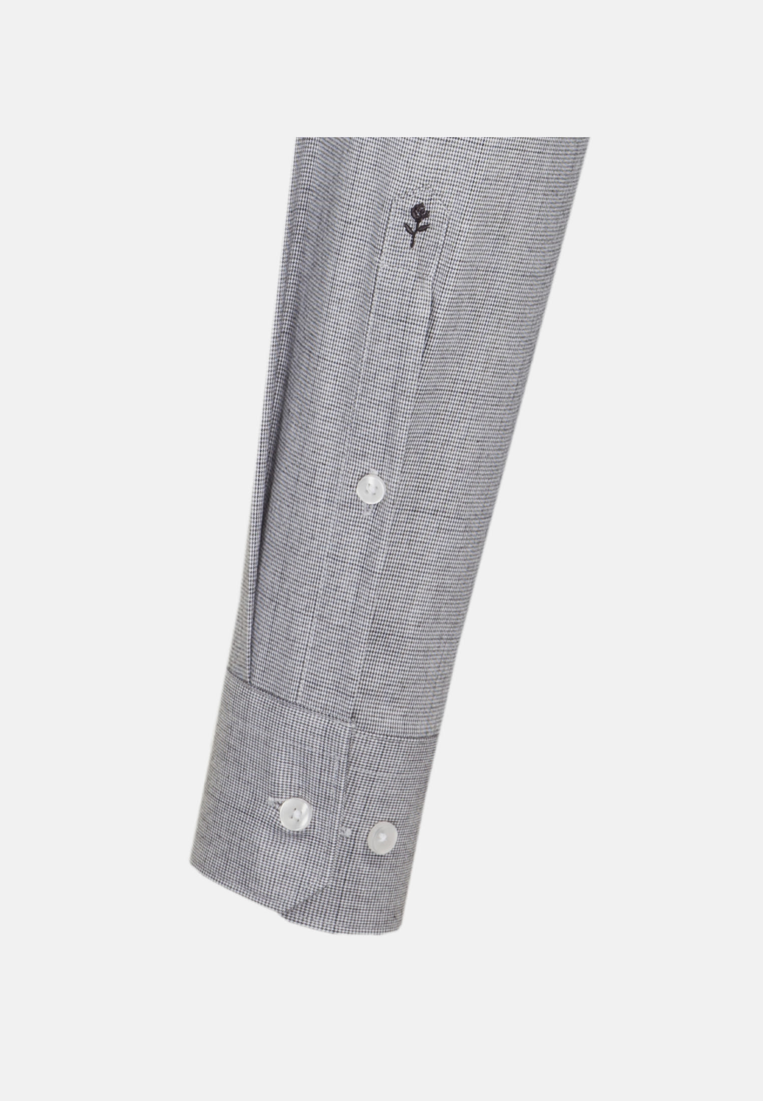 Easy-iron Pepita/tooth-peg check Business Shirt in Slim with Kent-Collar in Grey |  Seidensticker Onlineshop