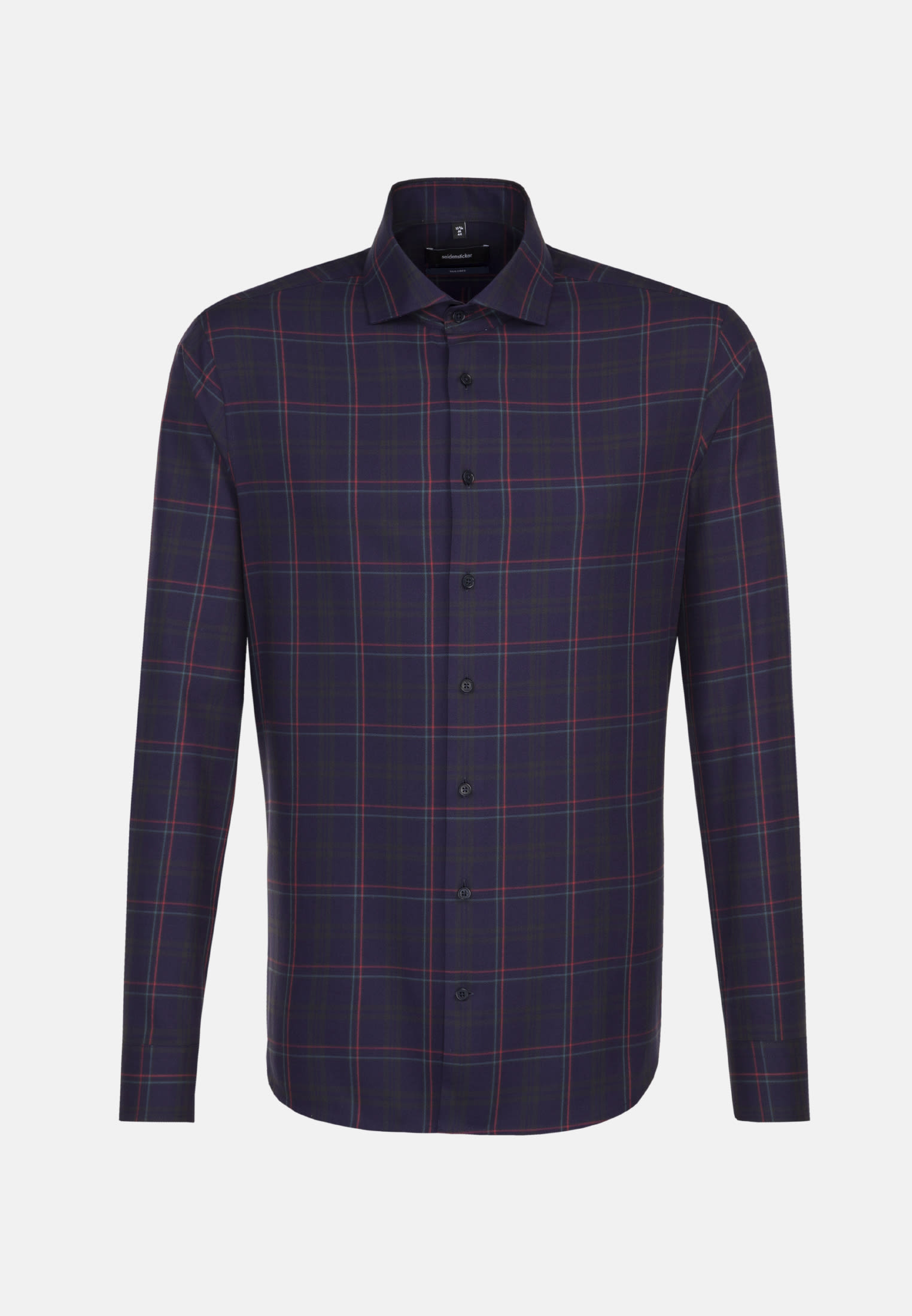 Bügelleichtes Twill Business Hemd in Tailored mit Kentkragen in Dunkelblau |  Seidensticker Onlineshop