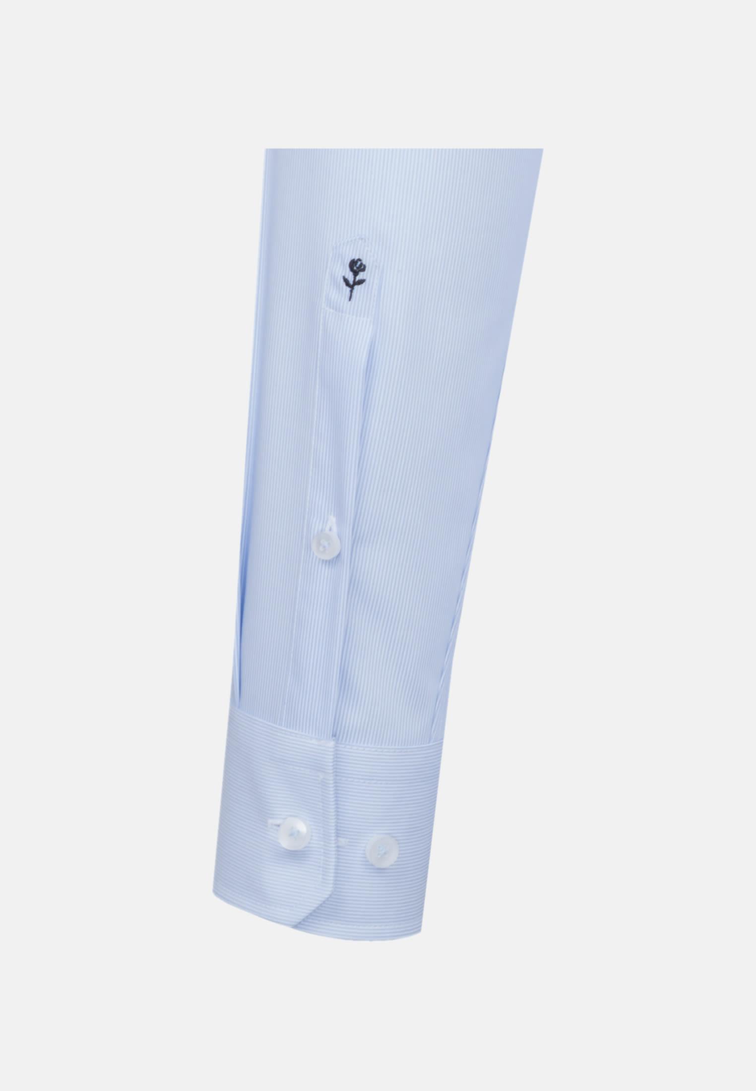 Bügelfreies Popeline Business Hemd in Regular mit Kentkragen in Hellblau    Seidensticker Onlineshop