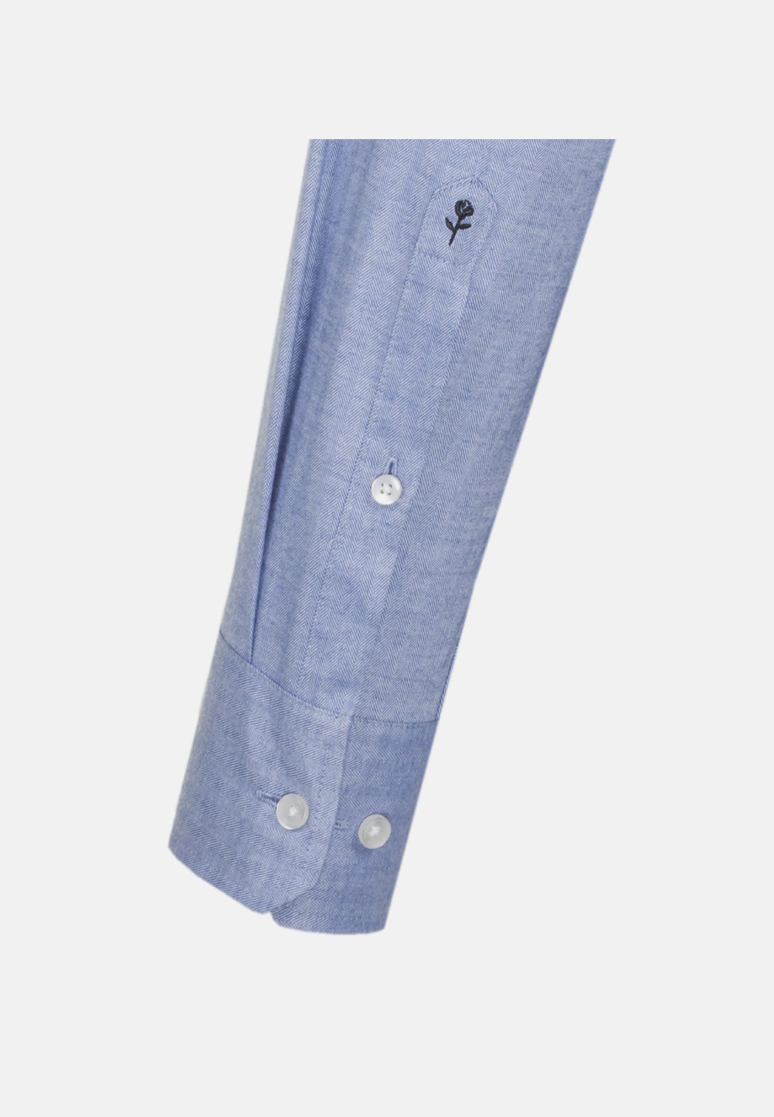 Easy-iron Herringbone pattern Business Shirt in Regular with Kent-Collar in Light blue |  Seidensticker Onlineshop