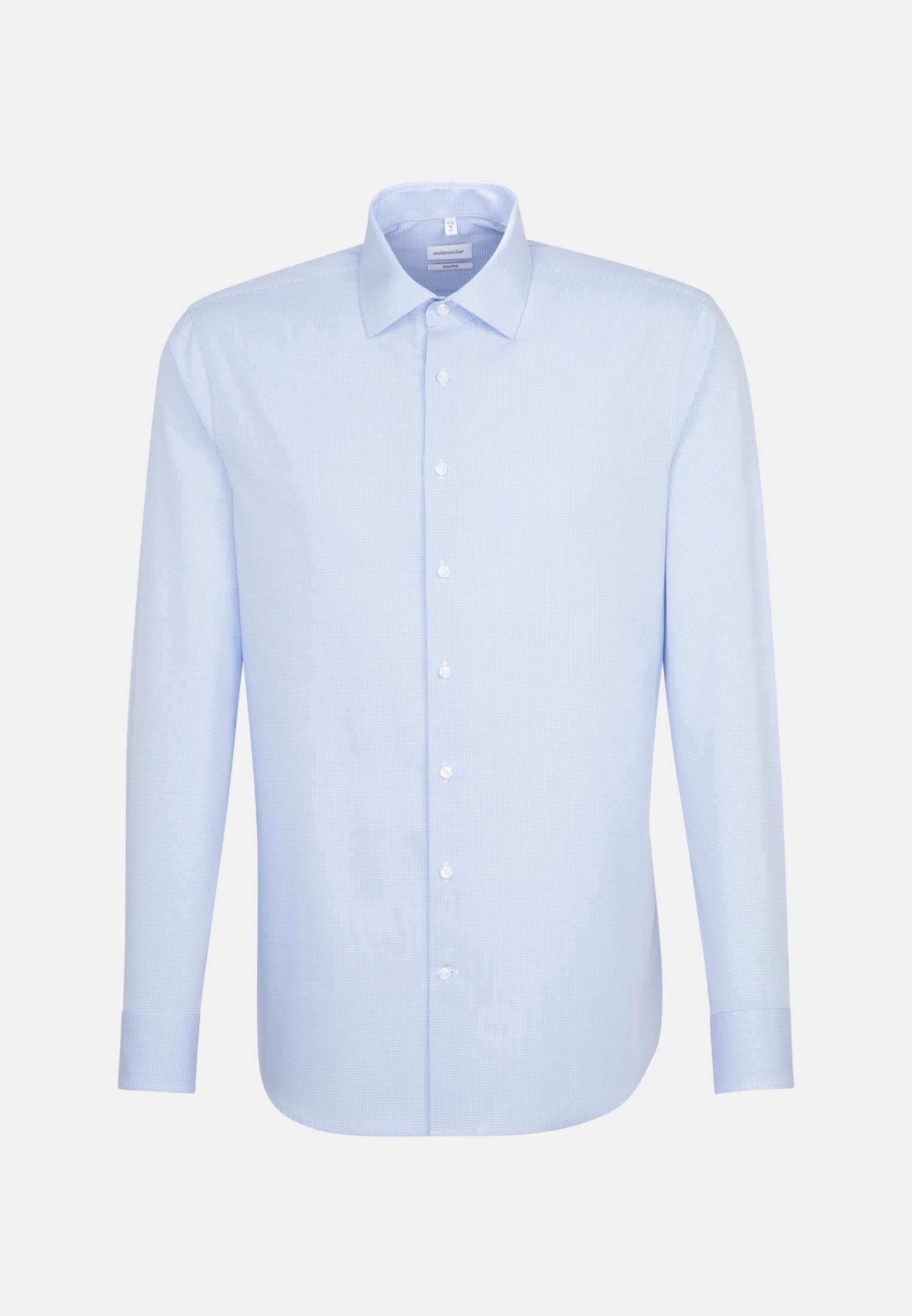 Non-iron Poplin Business Shirt in Shaped with Kent-Collar in Light blue    Seidensticker Onlineshop
