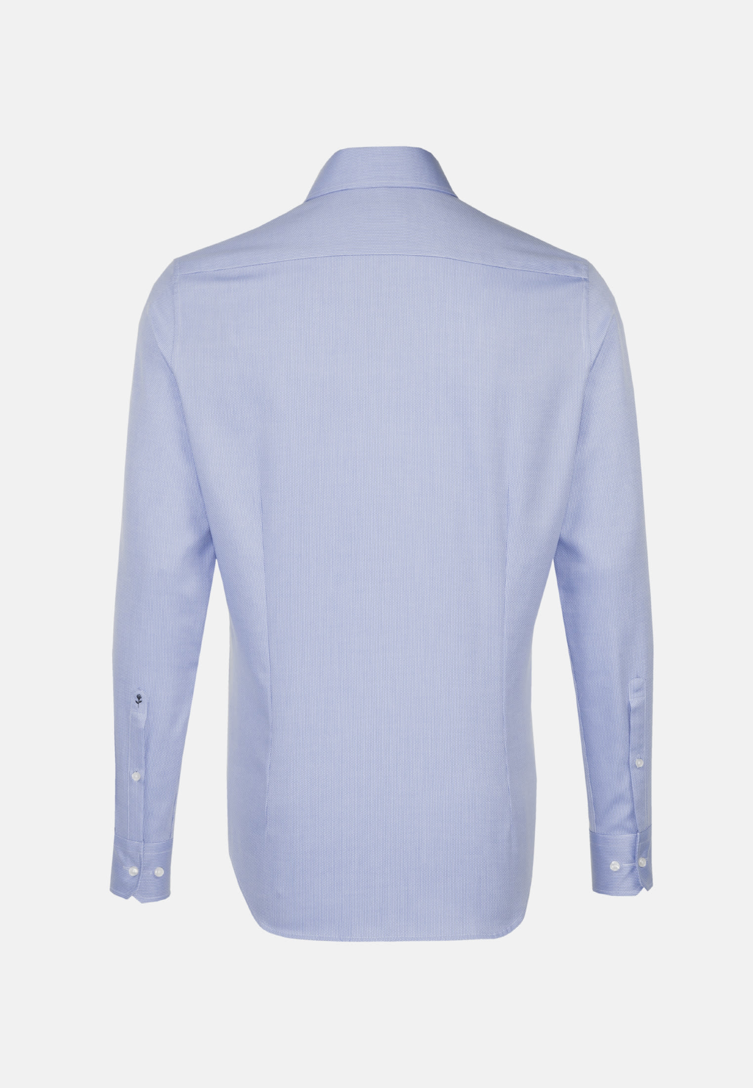 Easy-iron Structure Business Shirt in Shaped with Kent-Collar in Medium blue |  Seidensticker Onlineshop