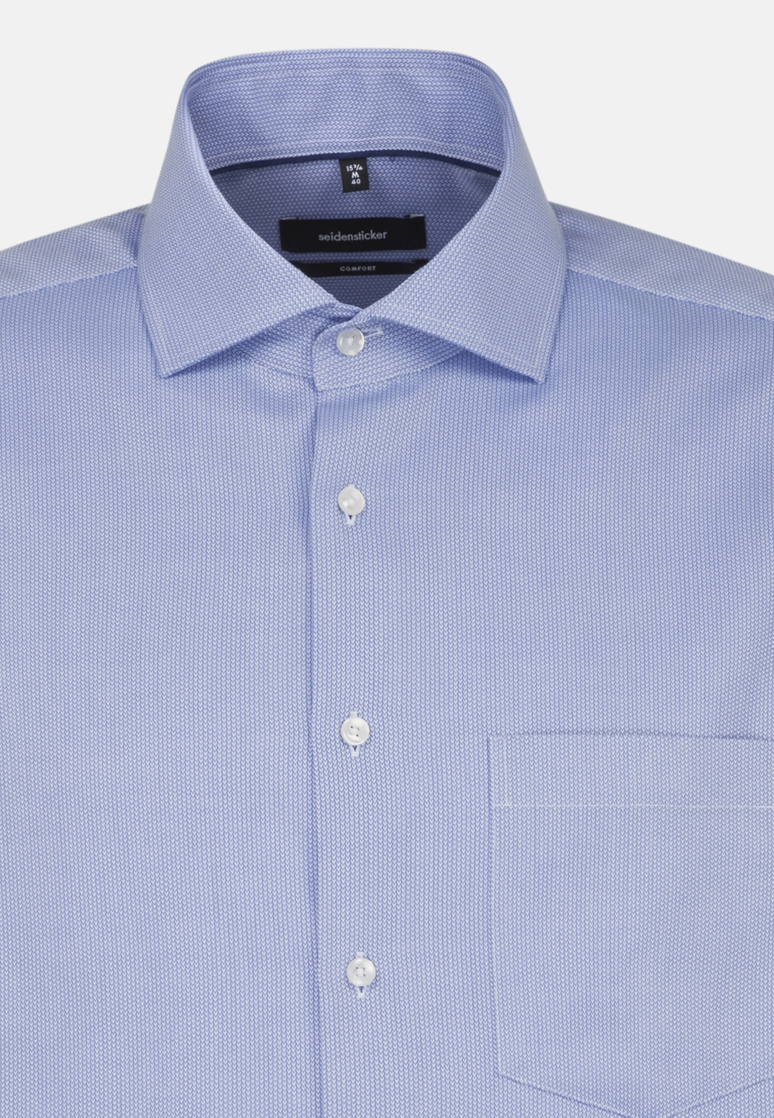Easy-iron Structure Business Shirt in Comfort with Kent-Collar in Medium blue |  Seidensticker Onlineshop