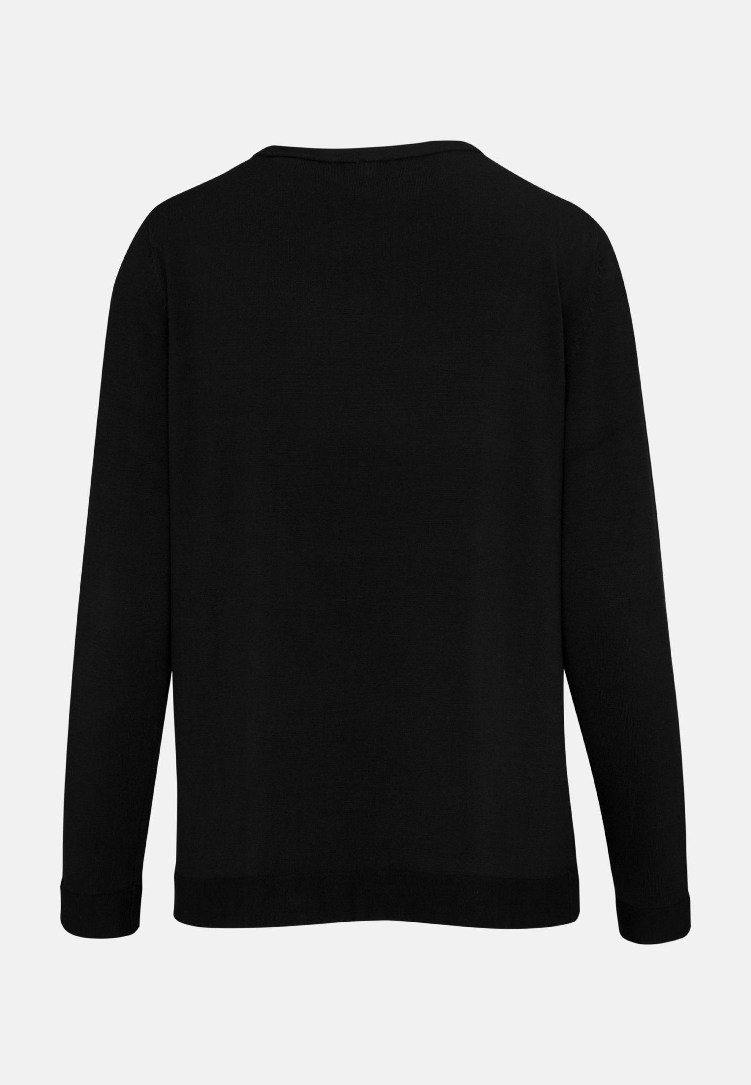 Rundhals Pullover aus Viskosemischung in Schwarz |  Seidensticker Onlineshop