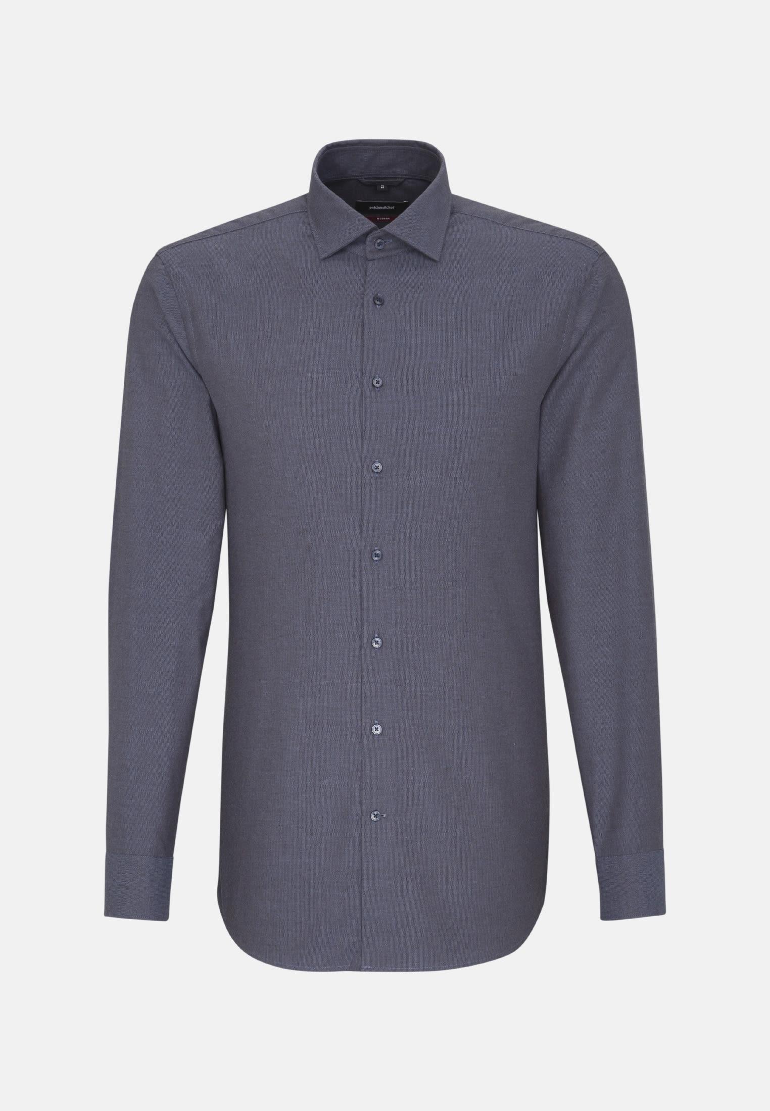 Easy-iron Structure Business Shirt in Modern with Kent-Collar in Brown |  Seidensticker Onlineshop